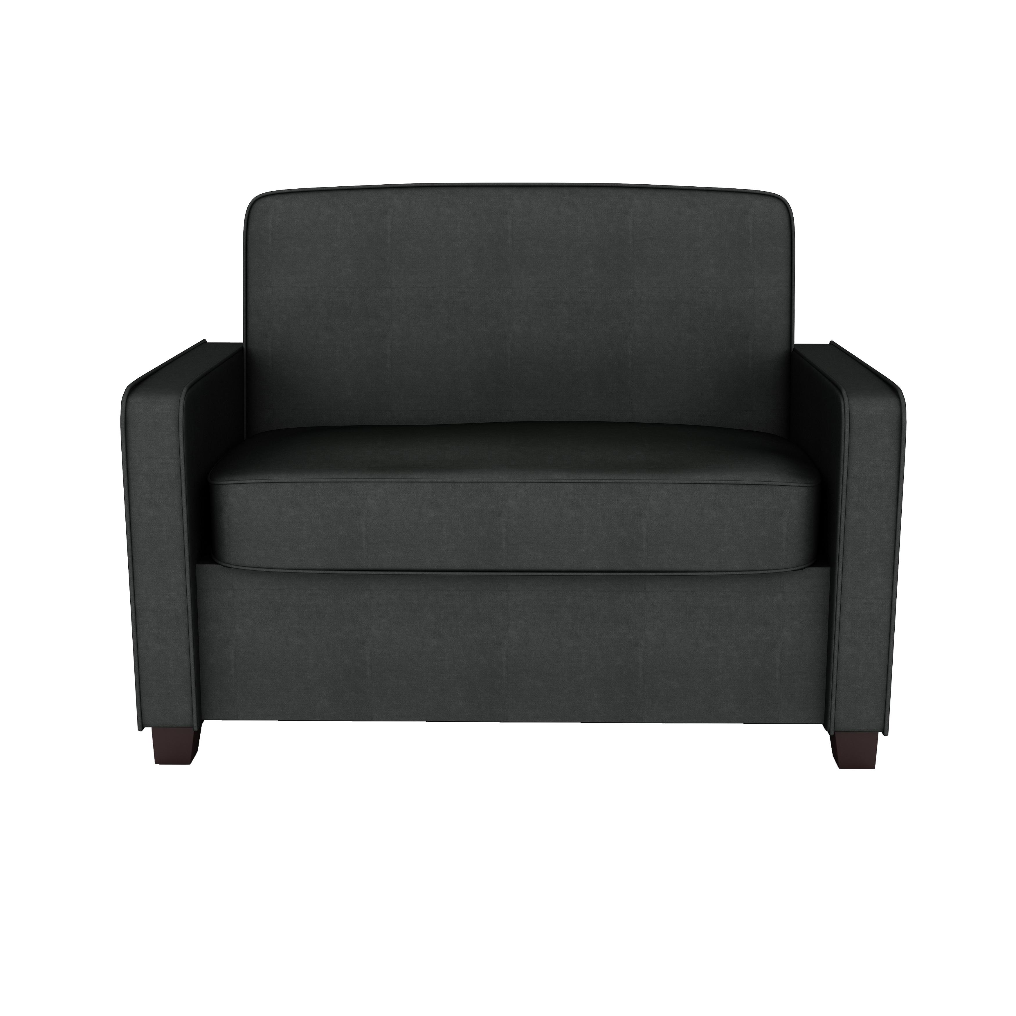 Shop Clay Alder Home Isleton Grey Velvet Twin Sleeper Sofa   Free Shipping  Today   Overstock.com   20255176