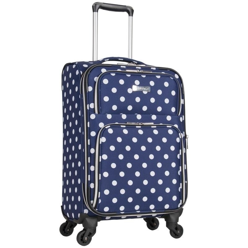 fb1823d5e Shop Heritage Albany Park 20-Inch Polka Dot Expandable Spinner Carry-On  Suitcase - Free Shipping Today - Overstock - 20256207