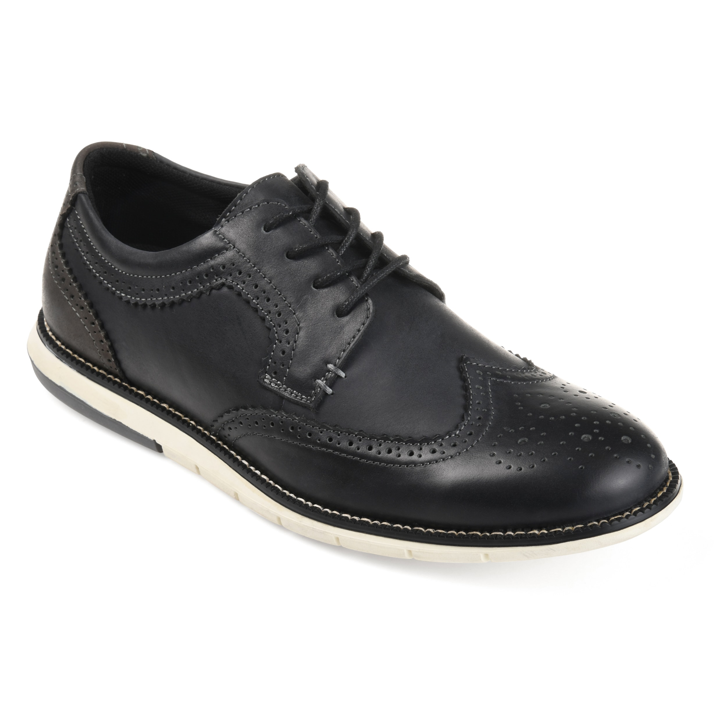 faa62ee6e16a Men s  Drake  Comfort-sole Genuine Leather Wingtip Brogue Dress Shoes - On  Sale - Free Shipping Today - Overstock - 20256762