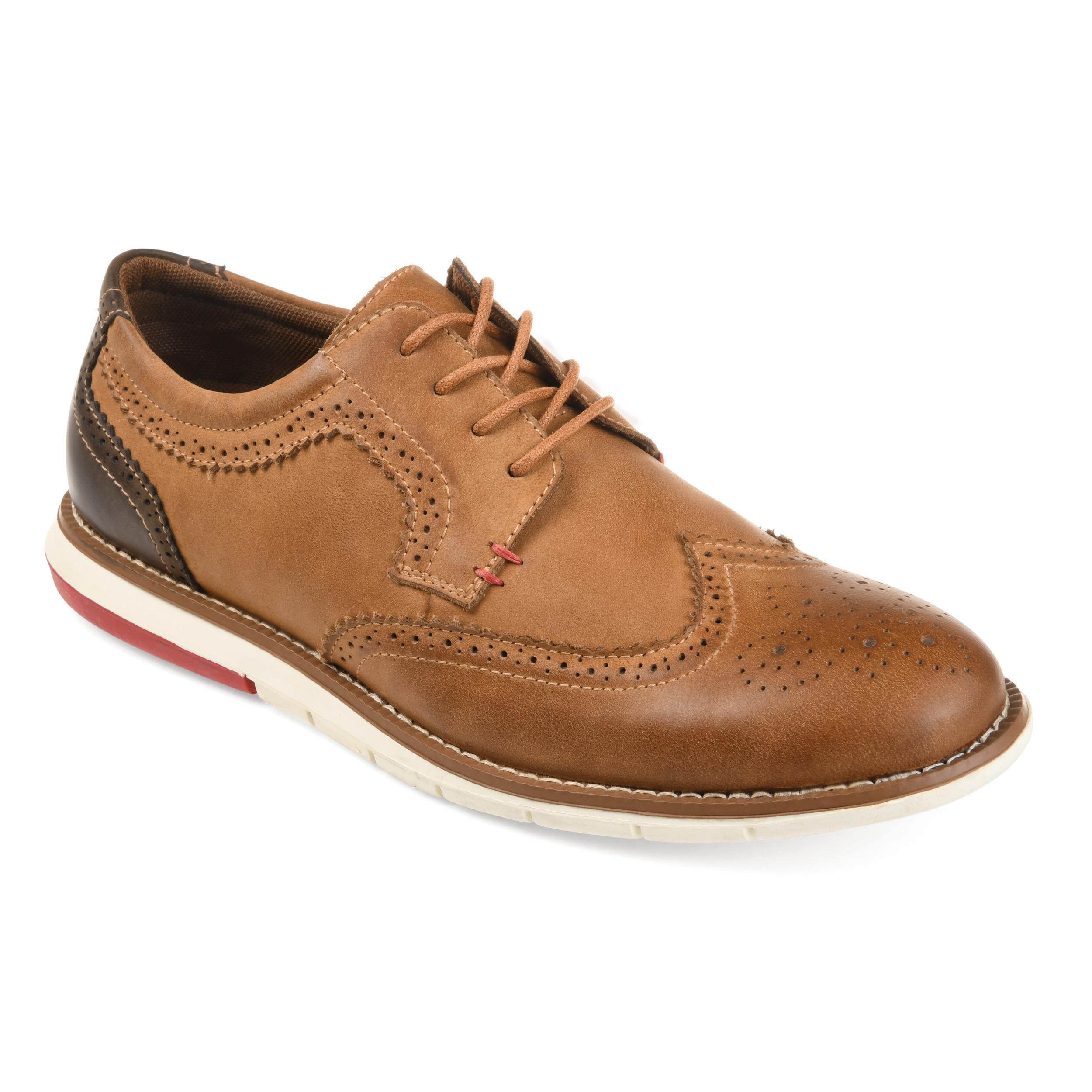 3ab5474da370 Shop Vance Co. Men s  Drake  Comfort-sole Genuine Leather Wingtip ...
