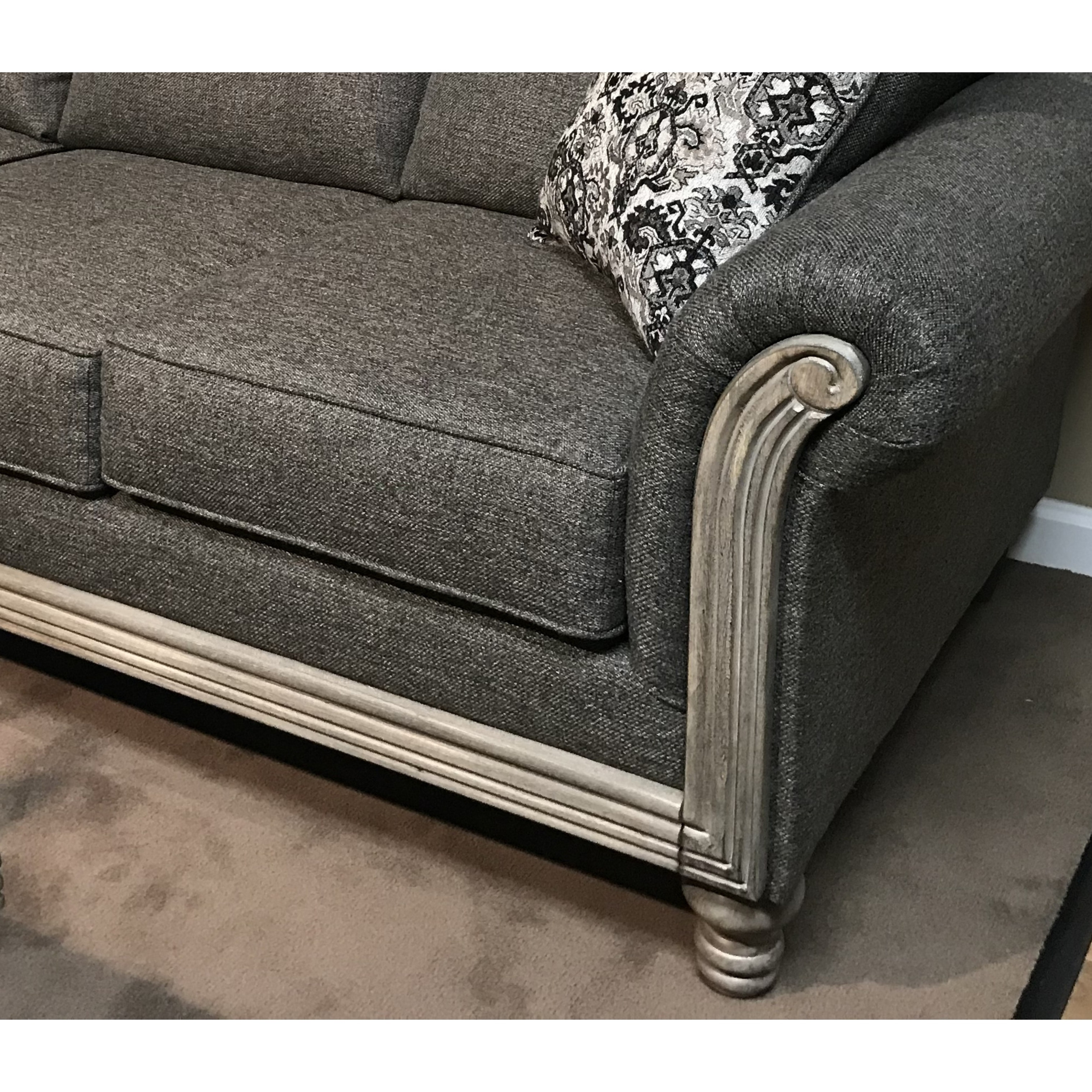swan magnussen wood frame threshold free floating with products width transitional trim height home exposed swanloveseat item loveseat