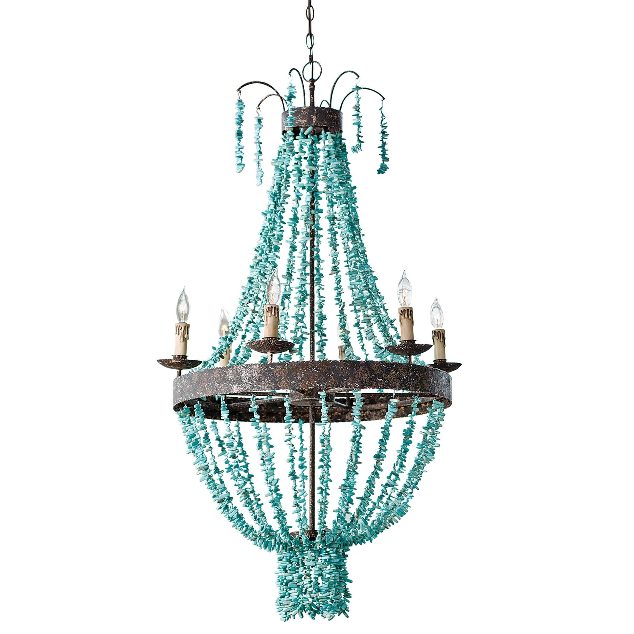 turquoise chandelier lighting. Beaded Turquoise Chandelier - Free Shipping Today Overstock.com 26139548 Lighting I