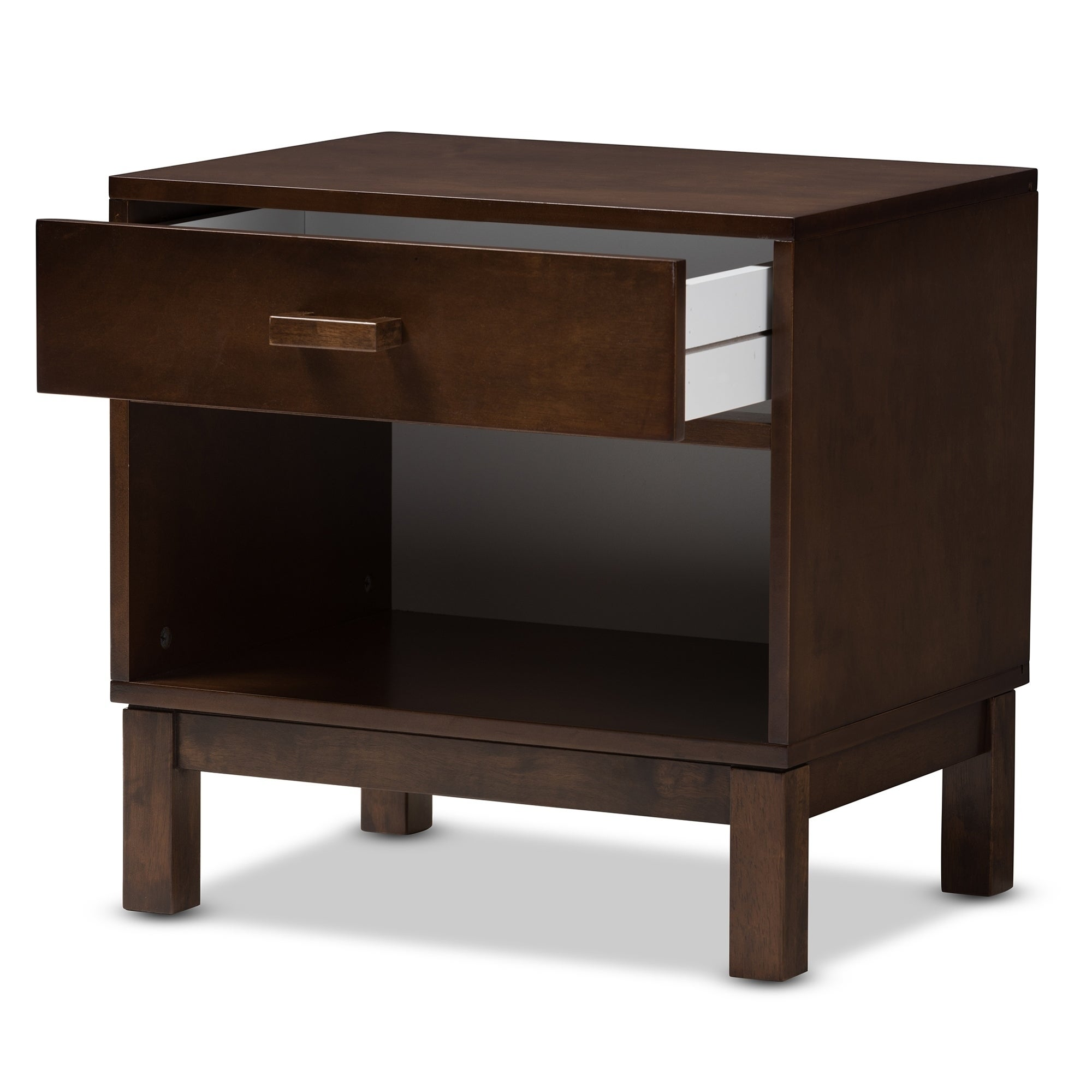 Clay Alder Home Anderson Contemporary Brown 1 Drawer Nightstand  Free