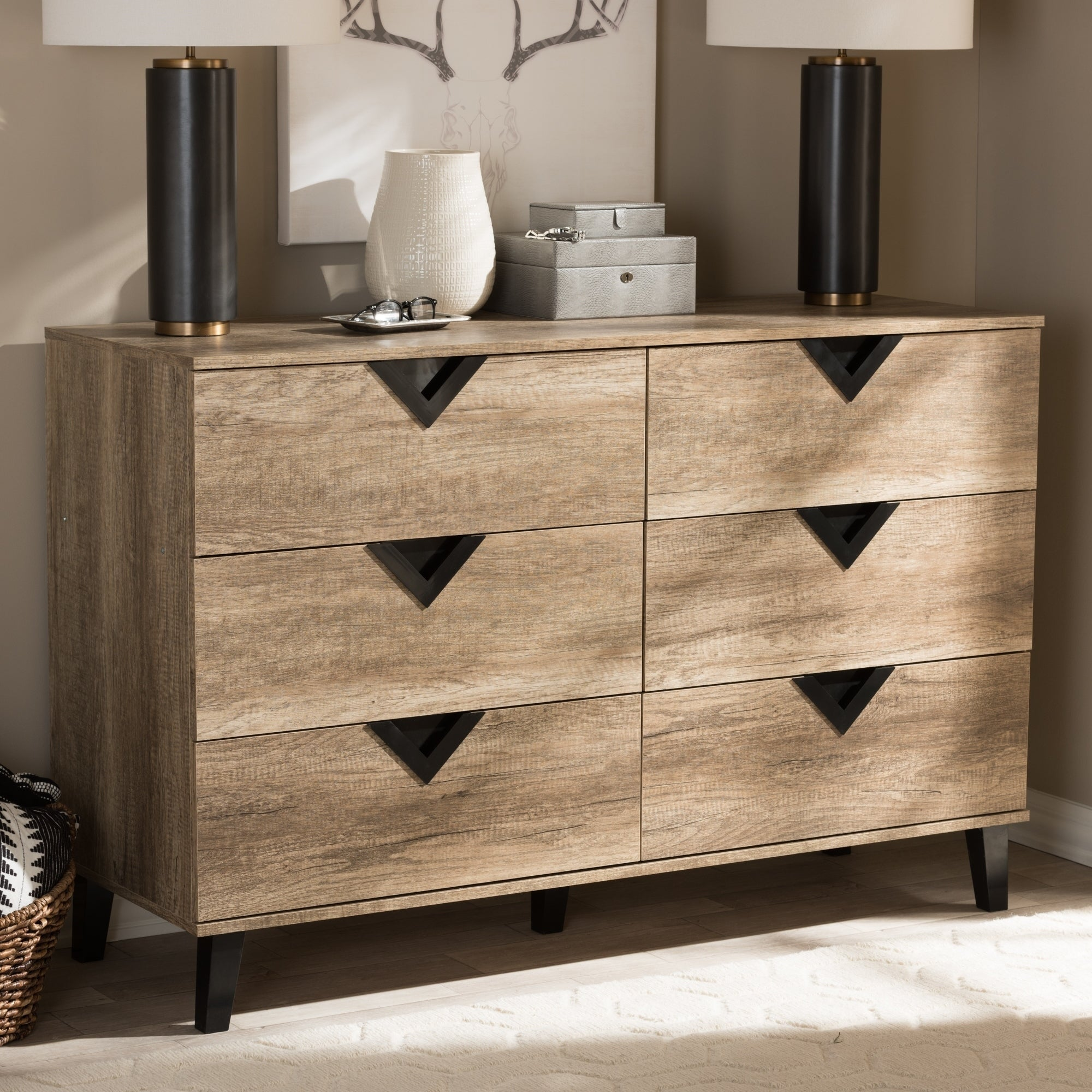 Carson Carrington Dragor Contemporary 6 Drawer Dresser