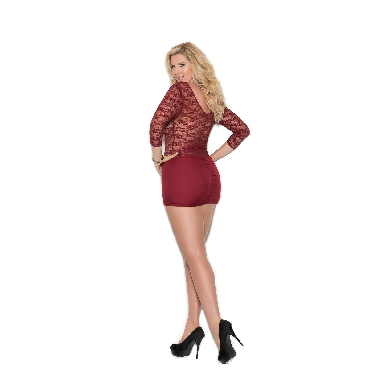 64f85eef91a99 Shop Elegant Moments women's Plus Size lace and lycra mini dress - Free  Shipping On Orders Over $45 - Overstock - 20271345