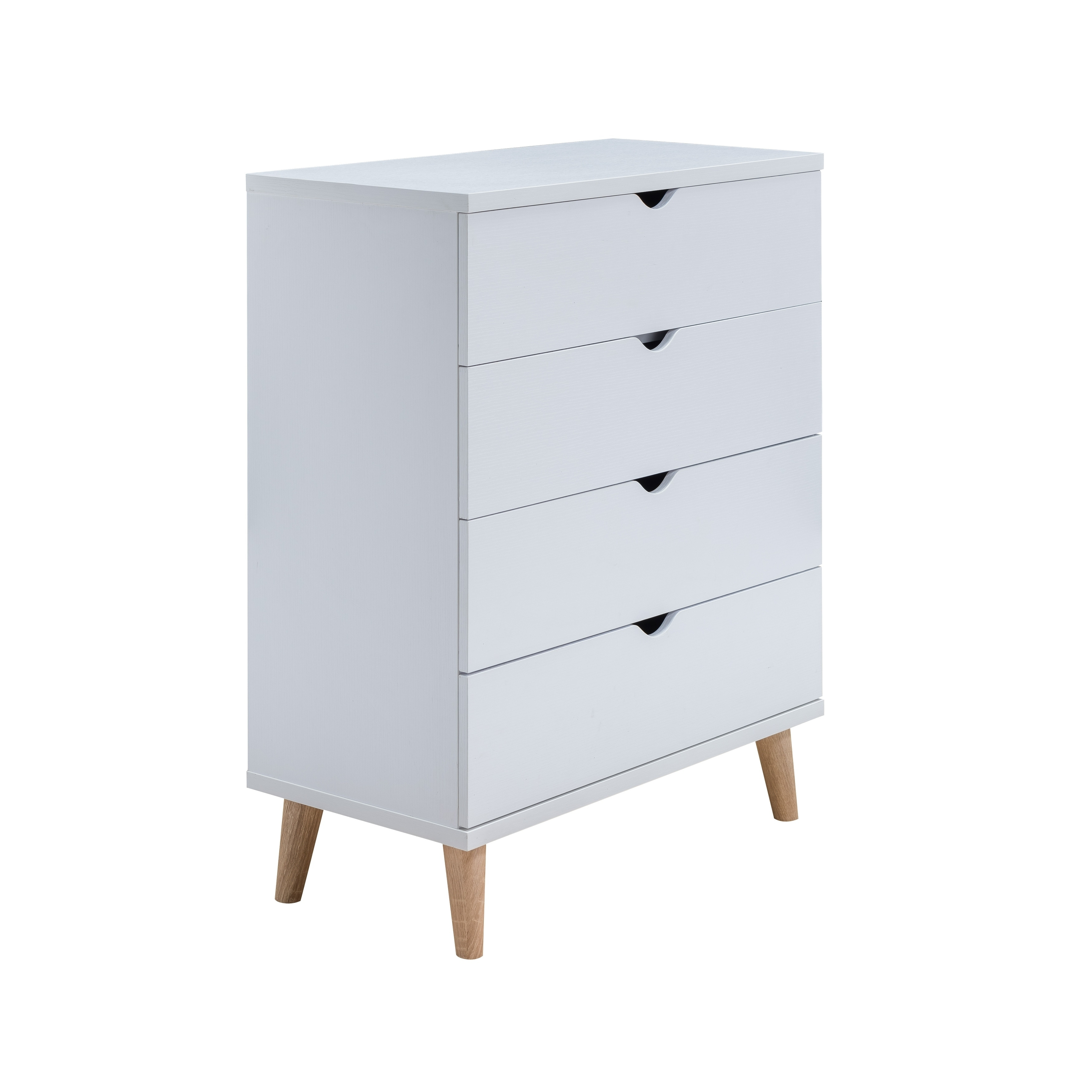 4 drawer chest. Shop Bridgette II Modern White 4-drawer Chest - Free Shipping Today Overstock.com 20931709 4 Drawer