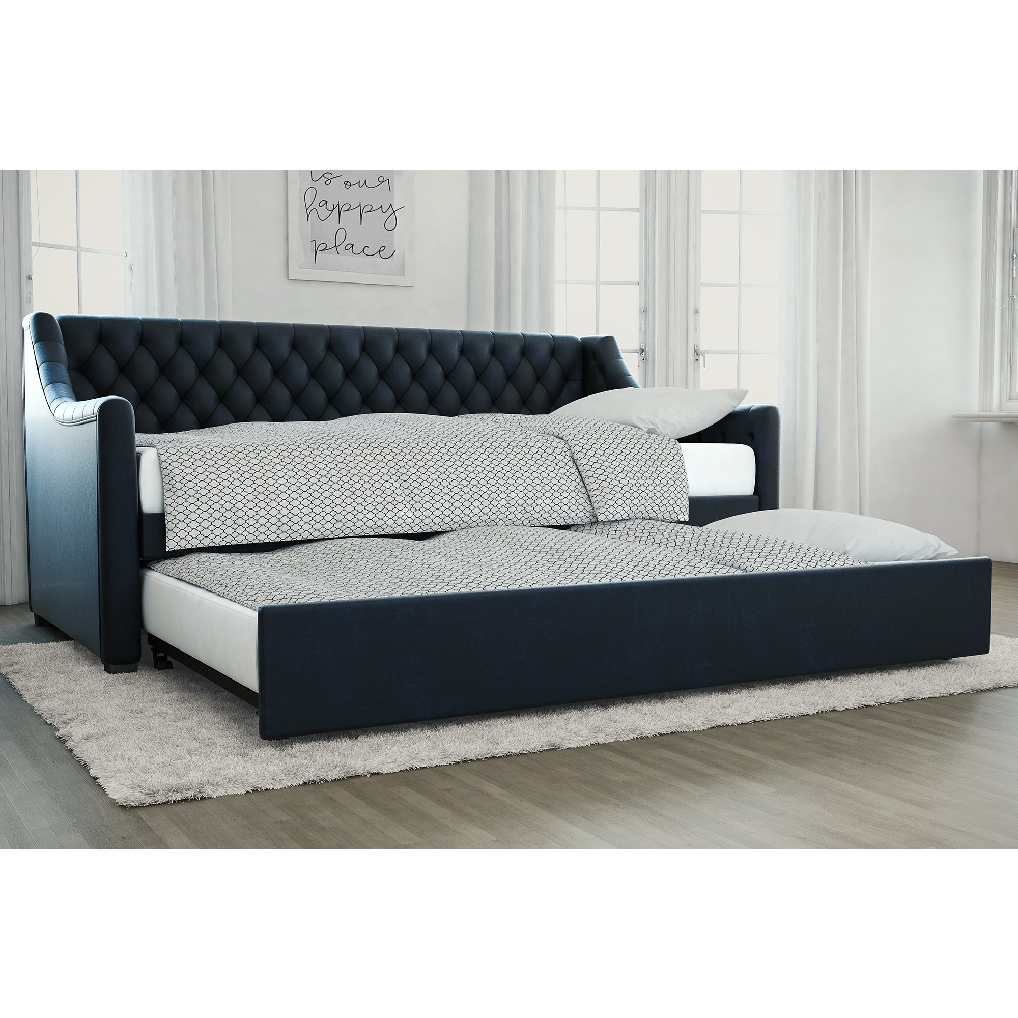 little seeds monarch hill blue ambrosia upholstered daybed and