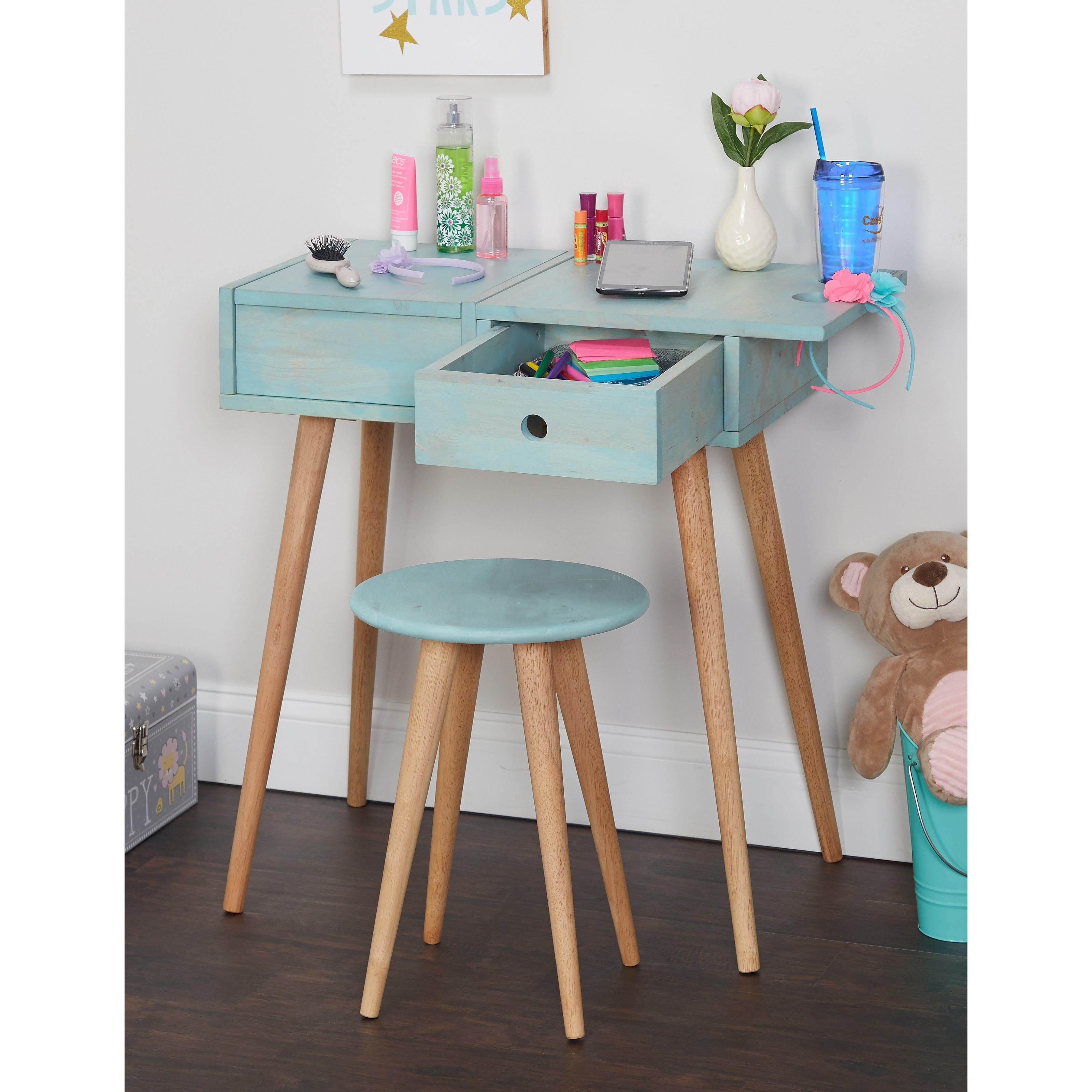 Ordinaire Shop Simple Living Ballet Vanity Desk And Stool Set   Free Shipping Today    Overstock.com   20279791