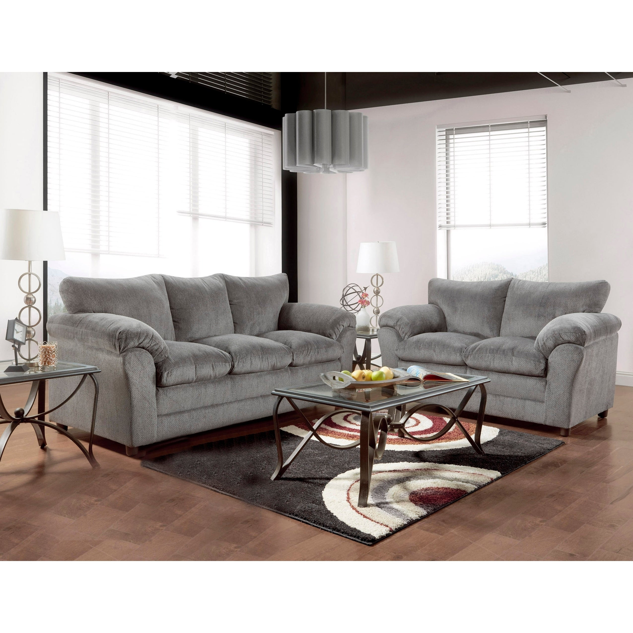 Enjoyable Copper Grove Malva Grey Sofa Loveseat 2 Piece Set Interior Design Ideas Clesiryabchikinfo