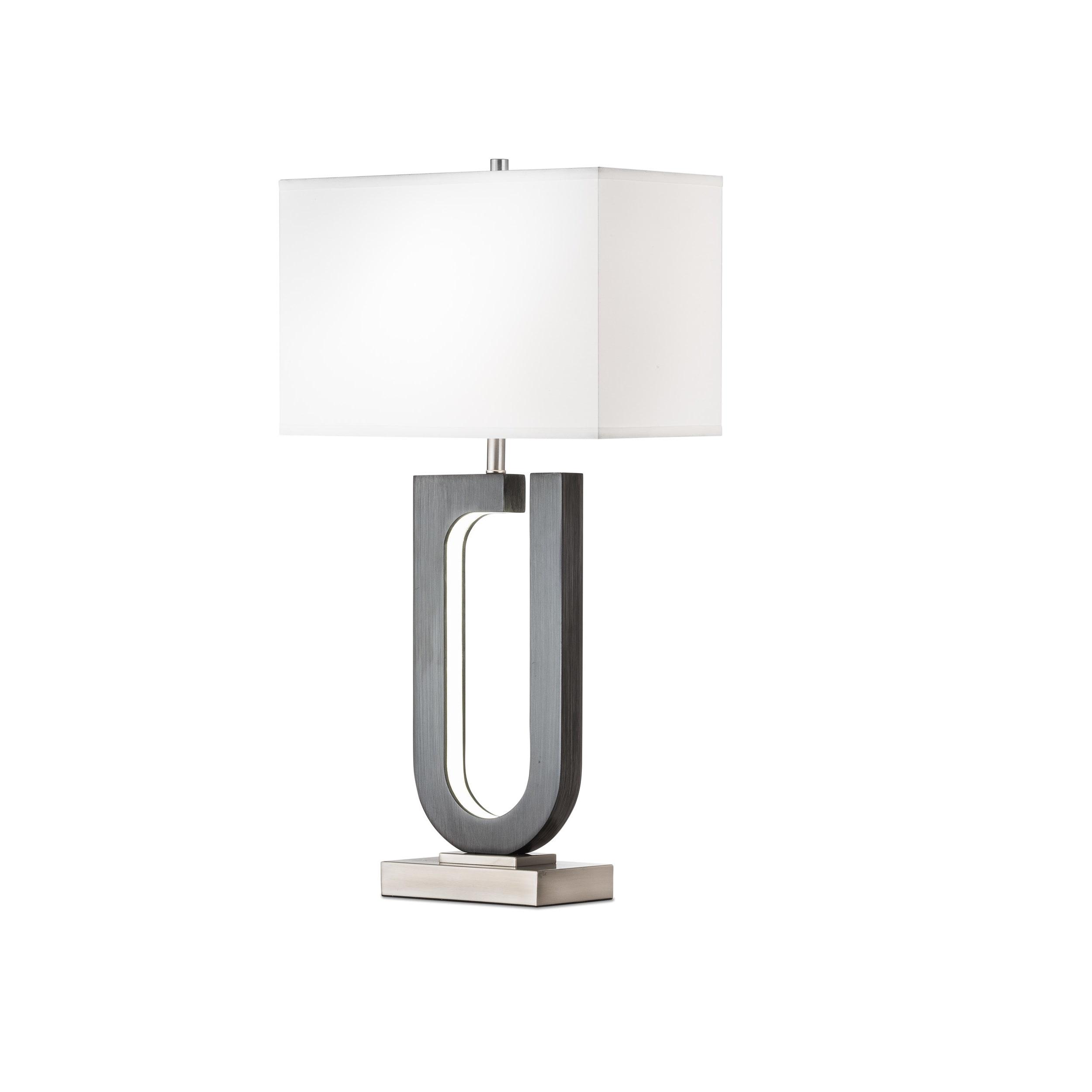 Shop Nova Lighting Horseshoe Table Lamp Charcoal Gray Free