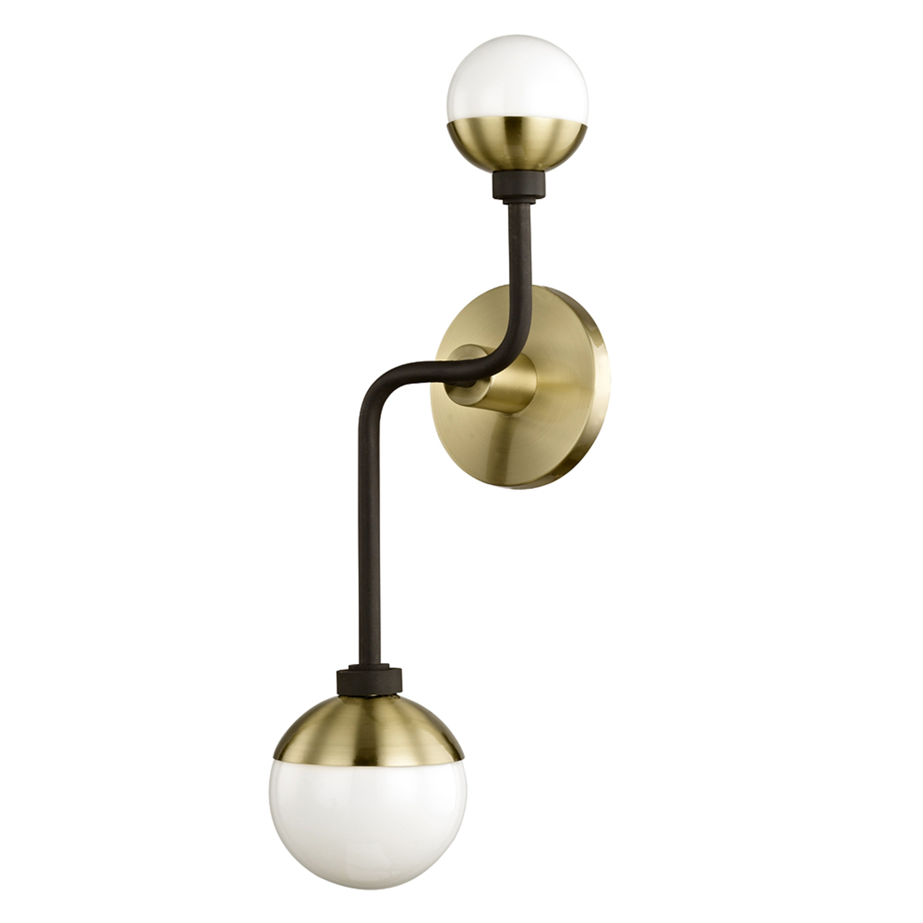 sconce arm wall store brass
