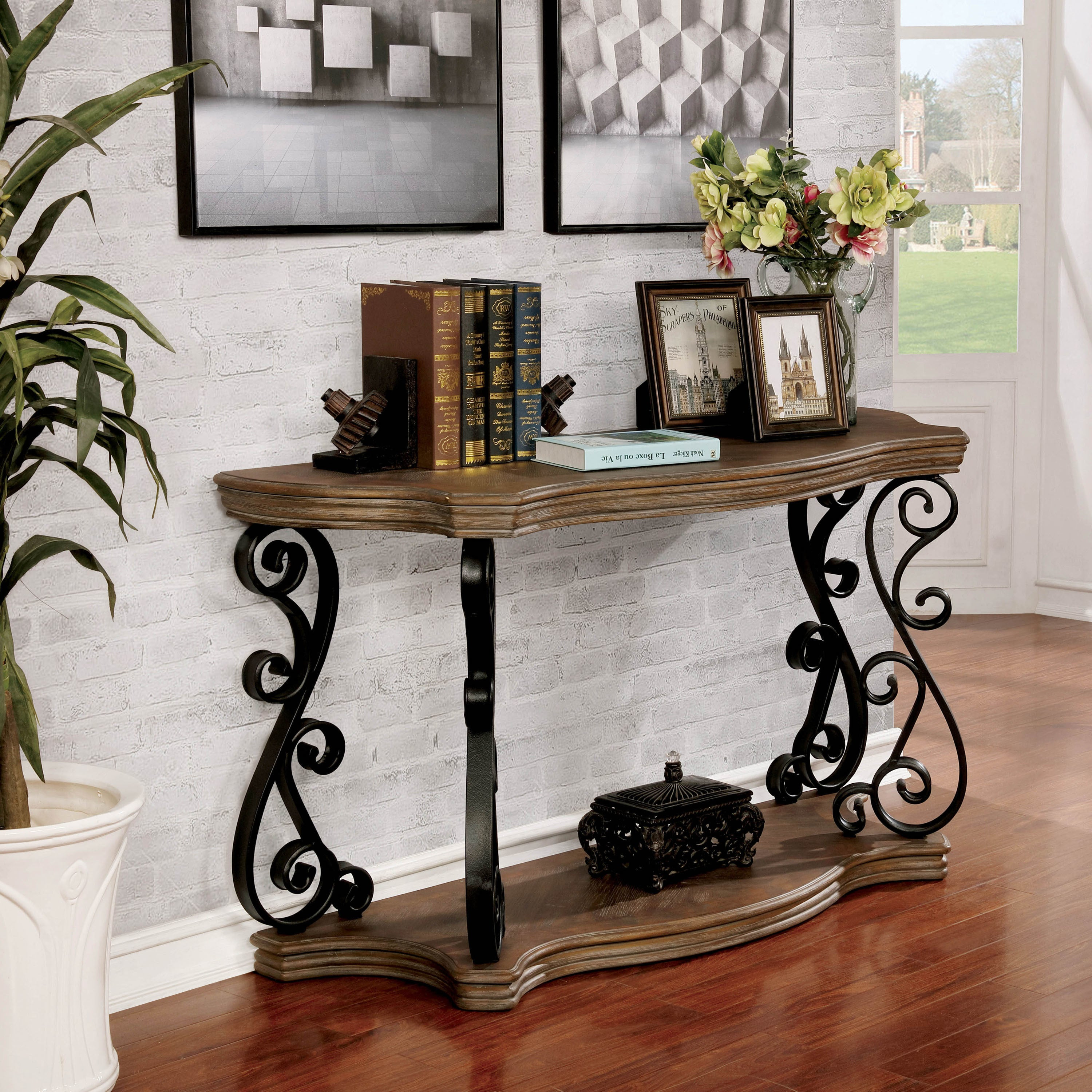 Shop Furniture of America Gale Traditional Open