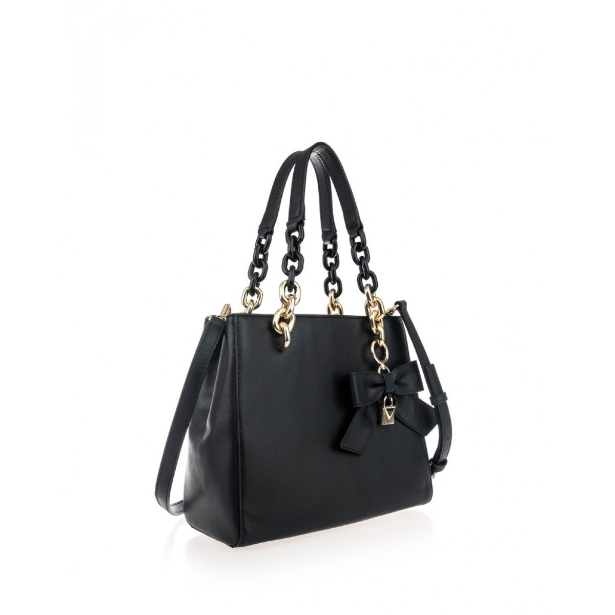 eae4c2ea0dc13 Shop MICHAEL Michael Kors Cynthia Small North South Convertible Satchel  Black - Free Shipping Today - Overstock - 20301006