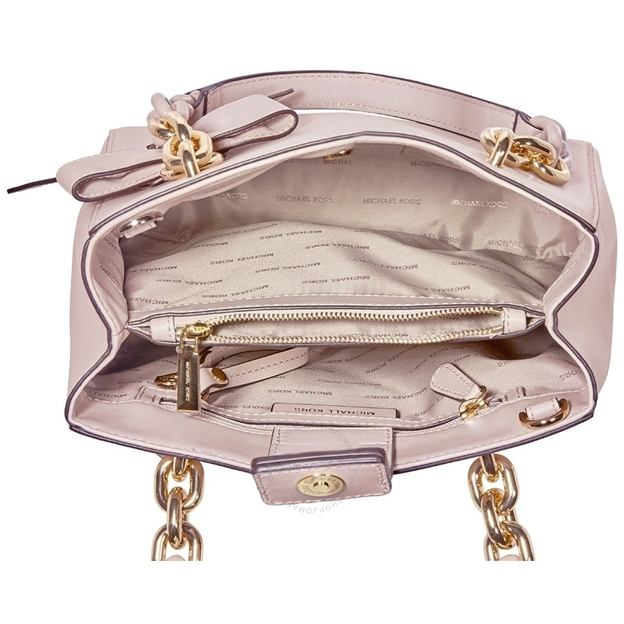 4f80baeef0f66 Shop MICHAEL Michael Kors Cynthia Small North South Convertible Satchel  Soft Pink - Free Shipping Today - Overstock - 20301022