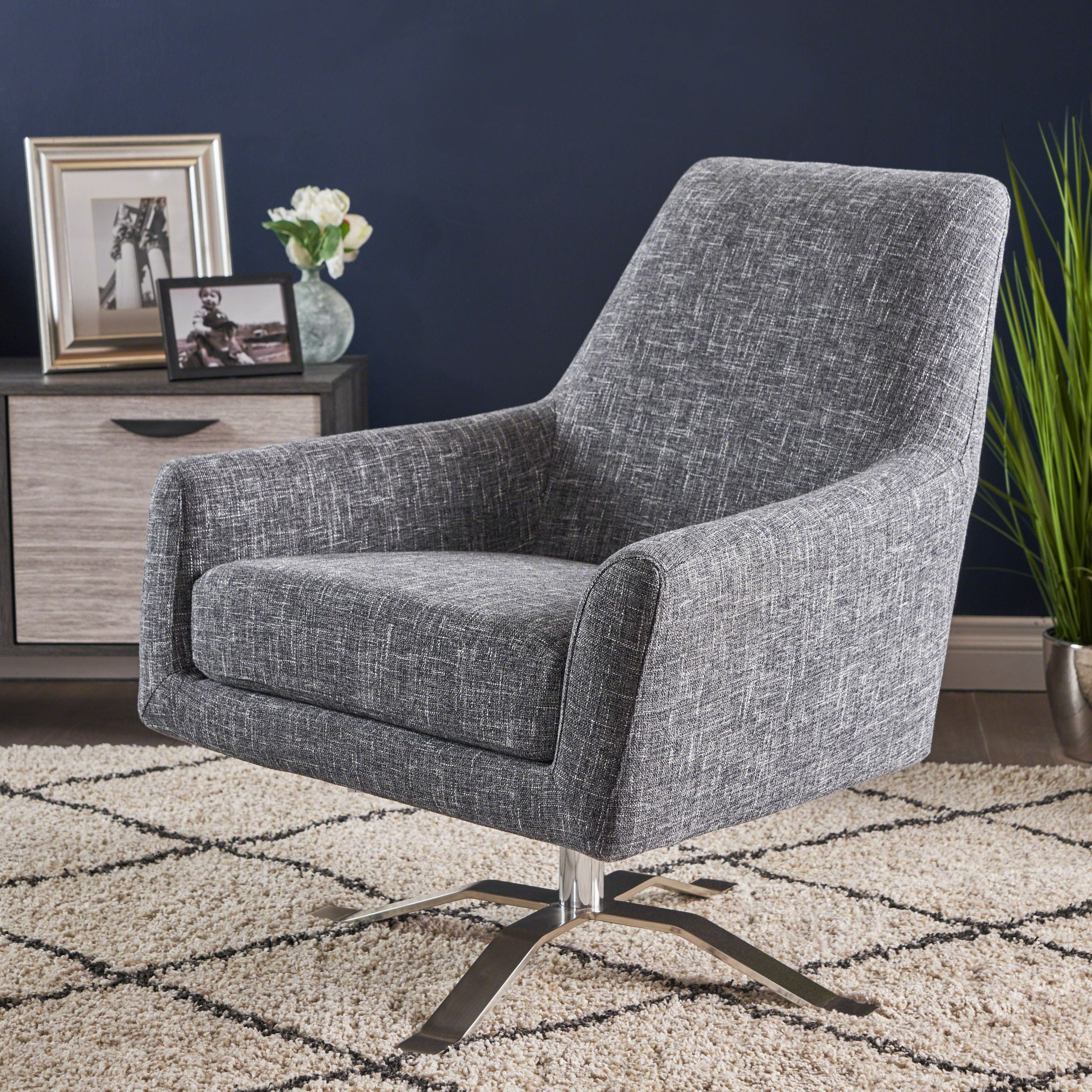 Ailis Modern Fabric Swivel Club Chair By Christopher Knight Home On Free Shipping Today 20301126