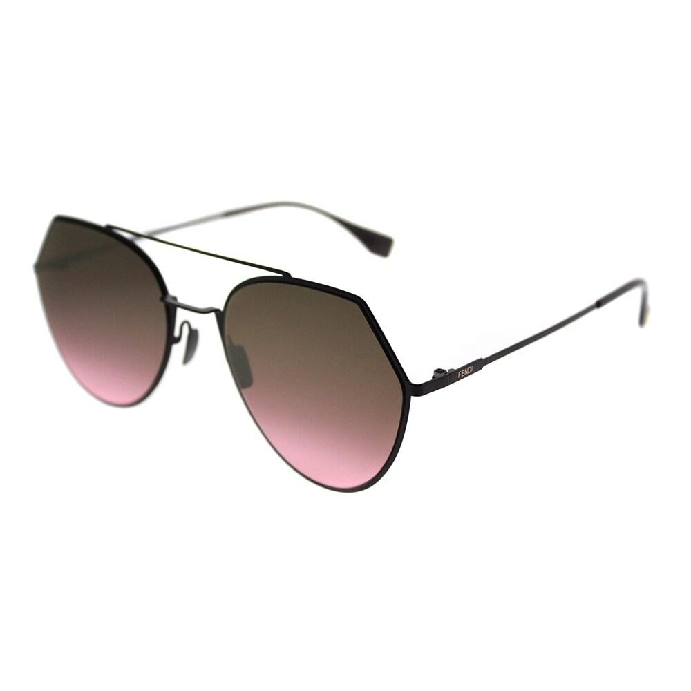 d8fb2206054 Shop Fendi Aviator FF 0194 Eyeline 0T7 Unisex Plum Frame Pink Gradient Lens  Sunglasses - On Sale - Ships To Canada - Overstock.ca - 20301294