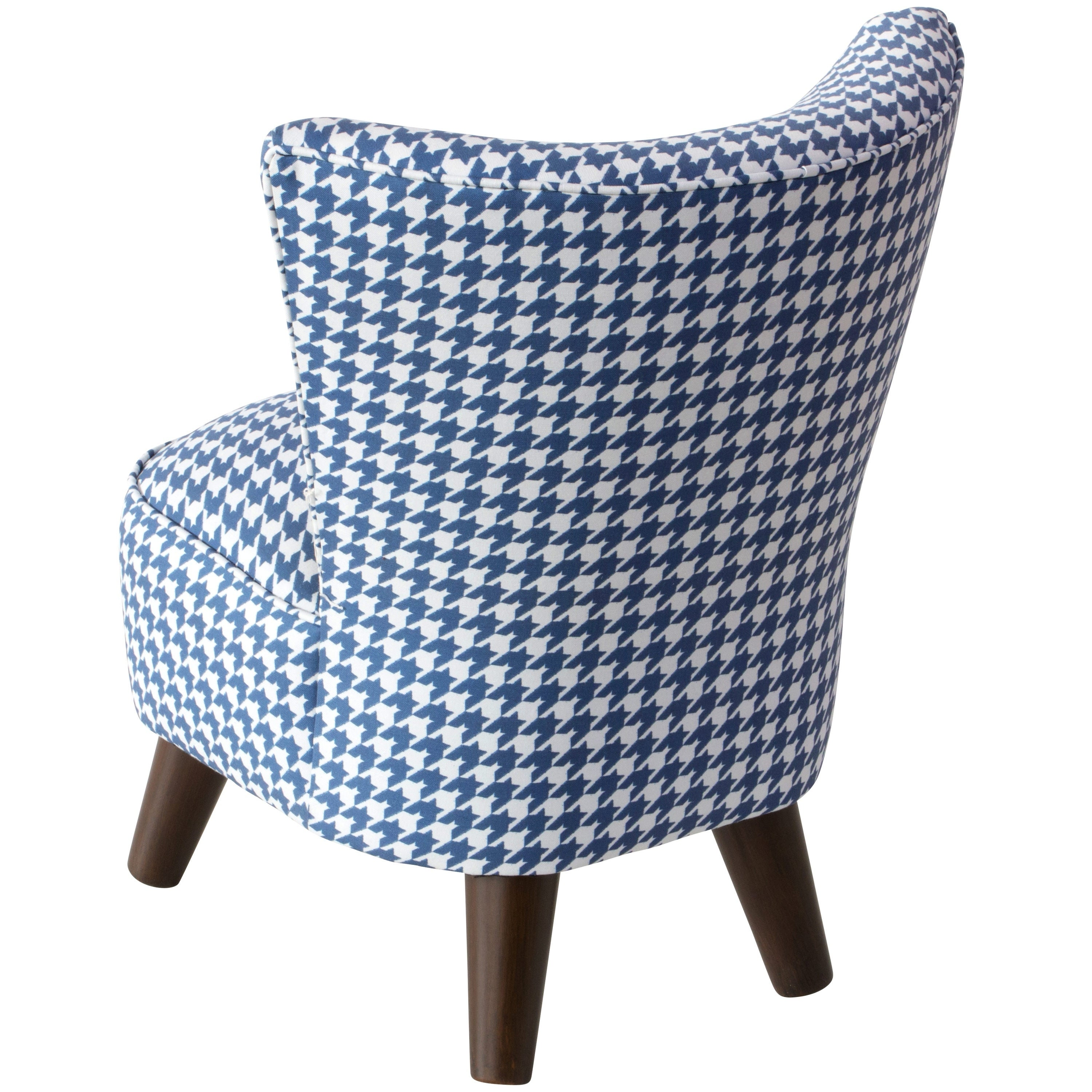 Shop Skyline Furniture Kids Modern Chair in Chunky Houndstooth Navy ...