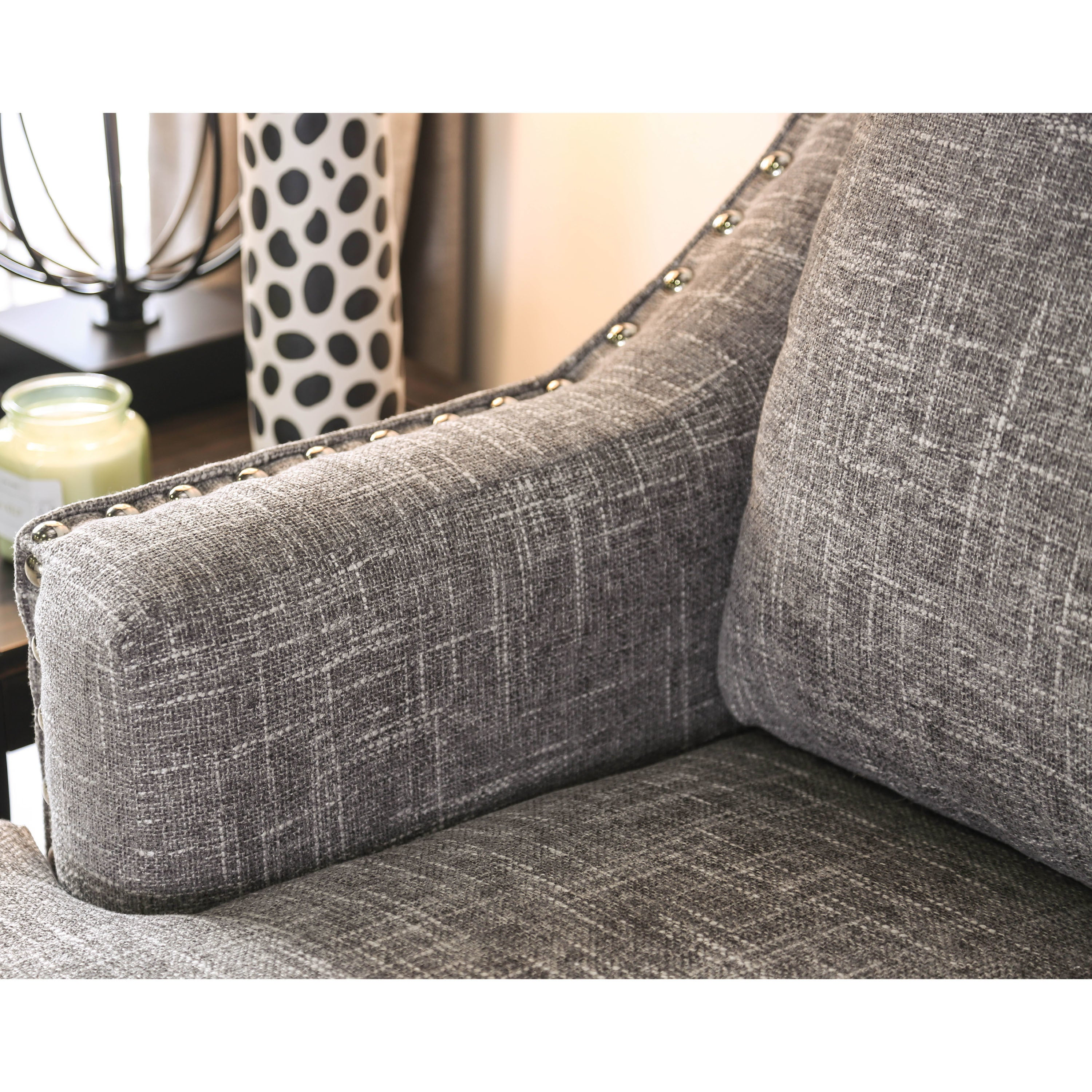 Genial Shop Furniture Of America Theresa Contemporary Grey Chenille Sofa   Free  Shipping Today   Overstock.com   20301776