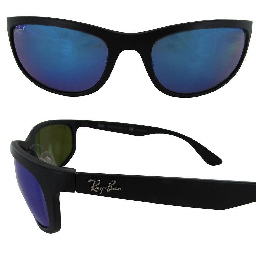 eb2515a5c10 Shop Ray Ban RB4265 Chromance Mens Black Frame Blue Mirror Lens Polarized  Sunglasses - Free Shipping Today - Overstock - 20303045