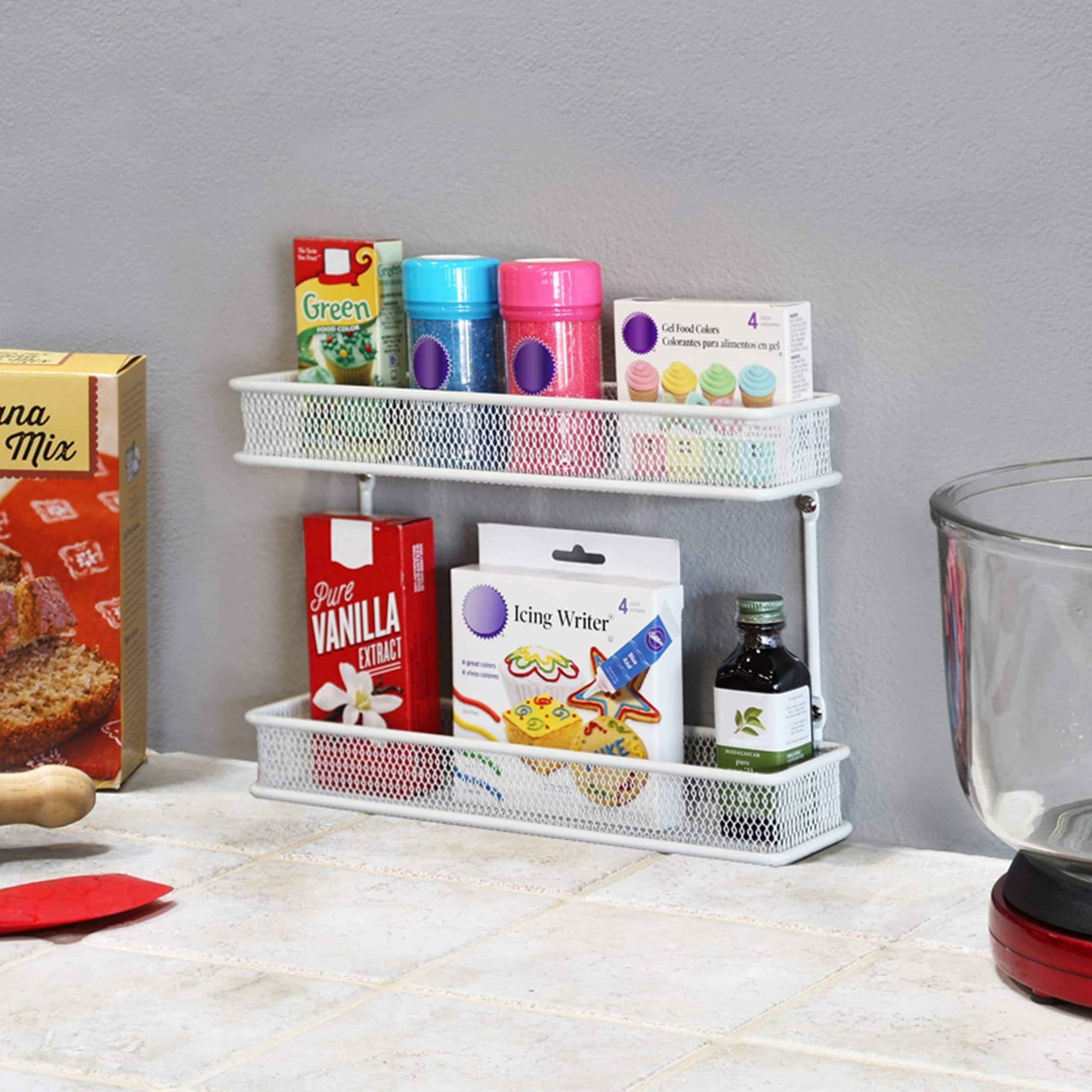 Shop Seville Classics 2-Tier Countertop and Wall Mount Spice Rack ...