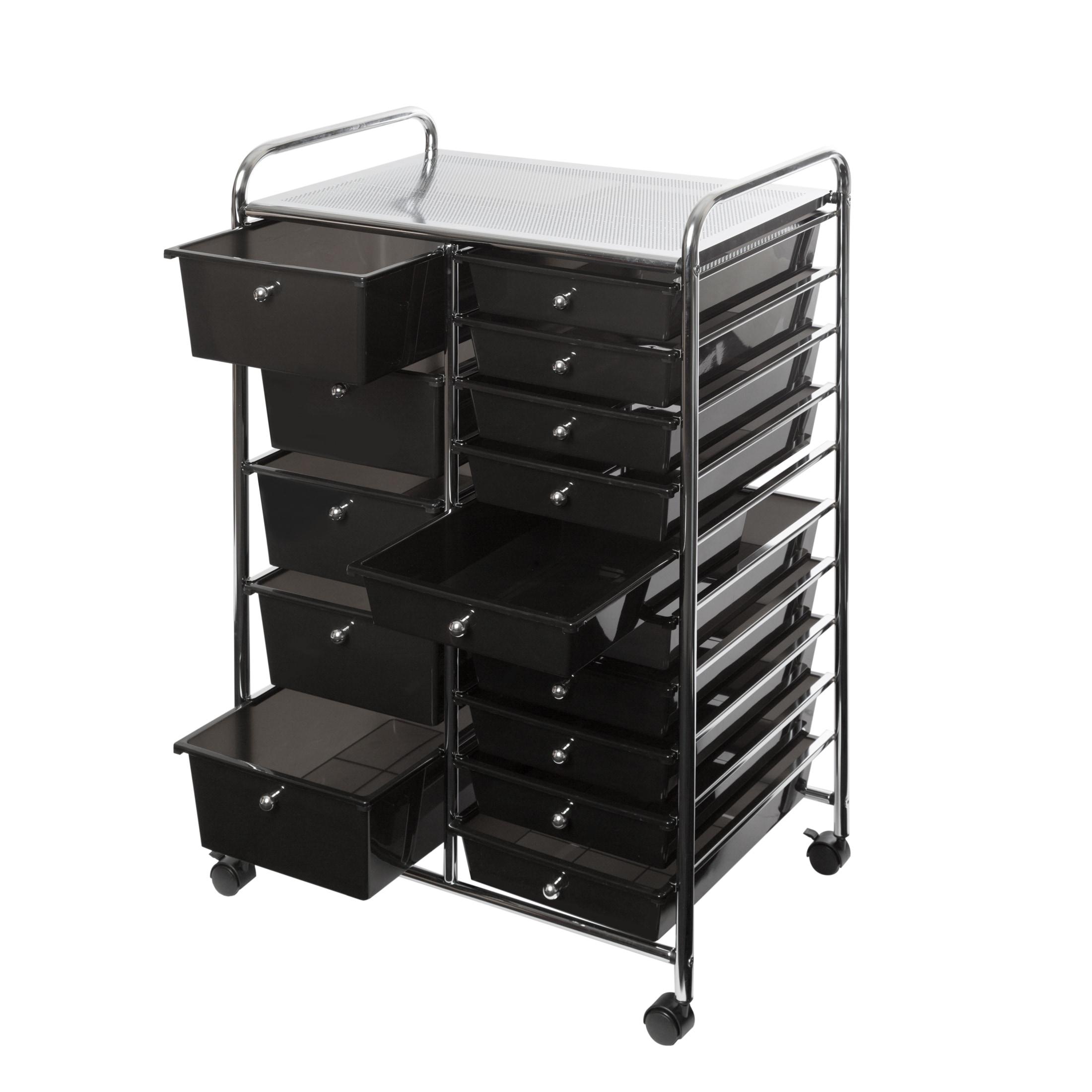 Black 15 Drawer Organizer Cart Free Shipping Today 20307439