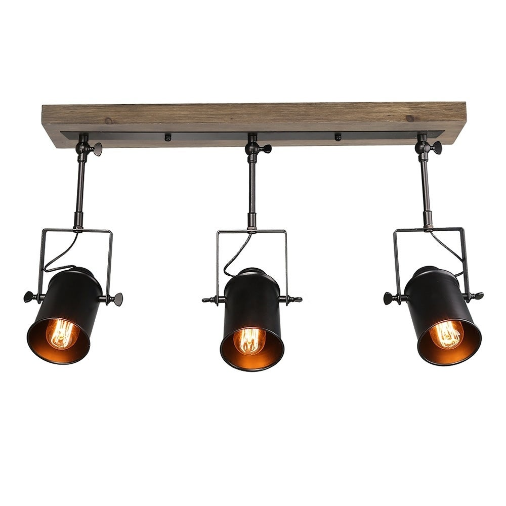 Lnc Wood Close To Ceiling Track Lighting Spotlights 3 Light Lights Free Shipping Today 20307485