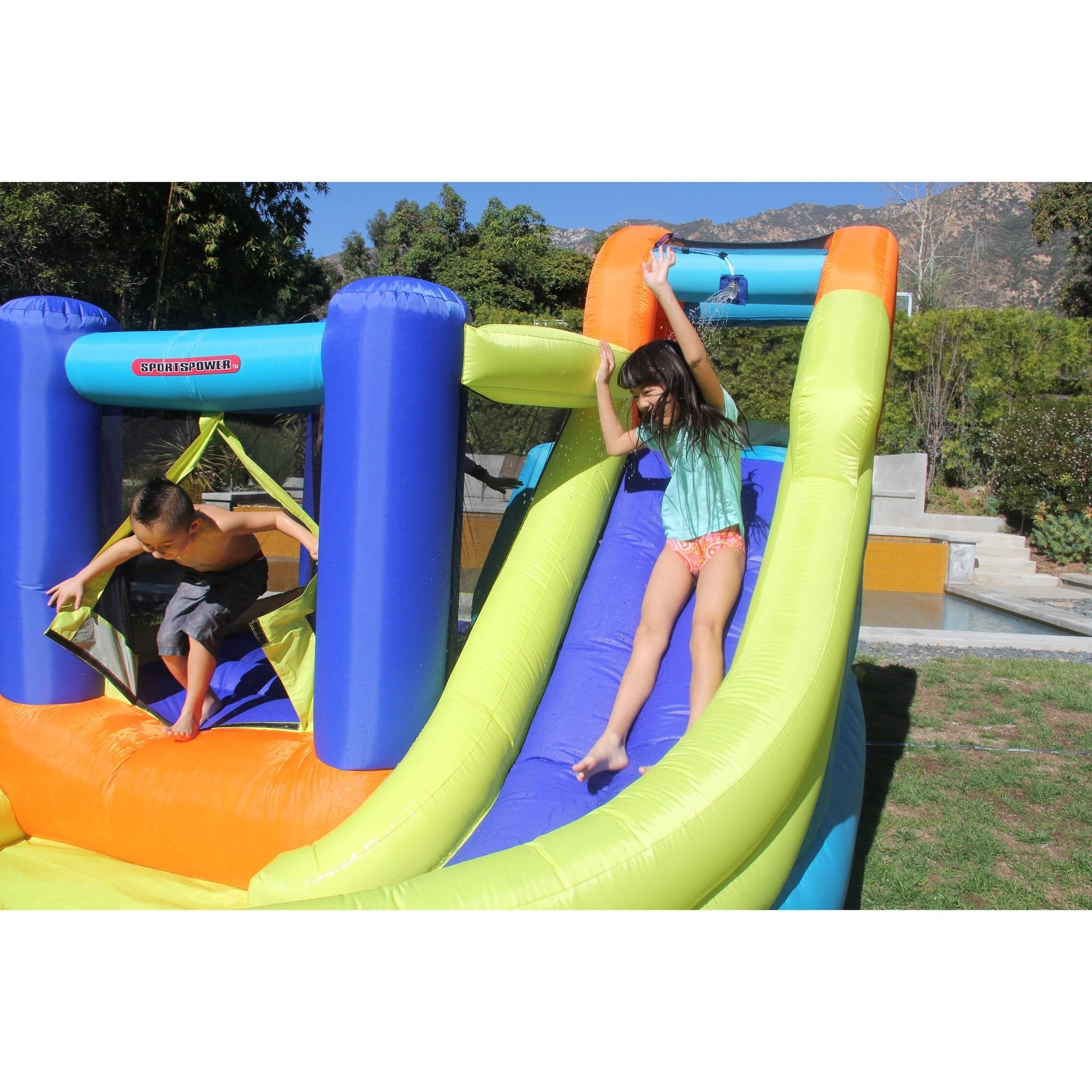ed4a6ceb171 Shop Sportspower My First Jump n Slide Inflatable Bounce House and Slide - Free  Shipping Today - Overstock - 20309794