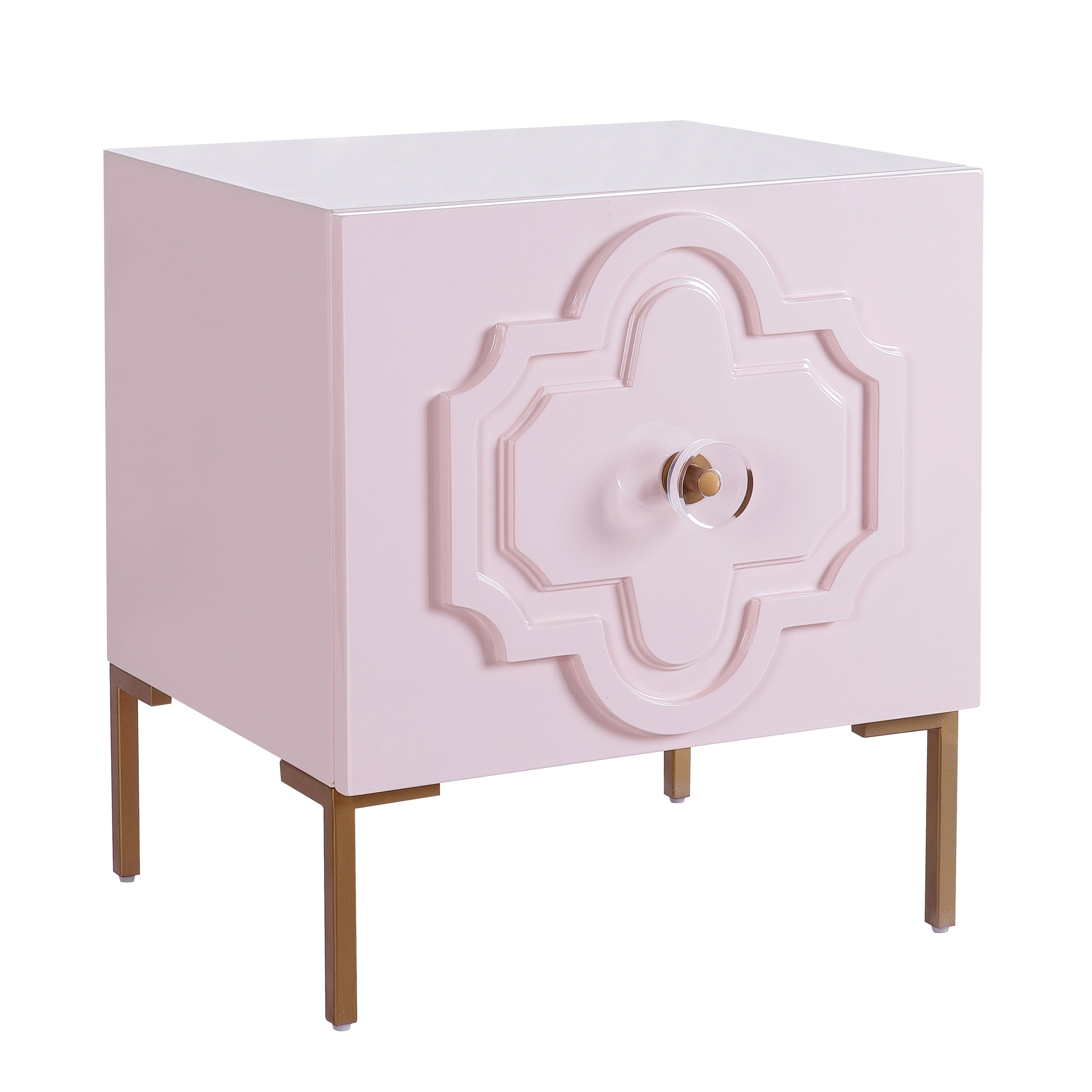 Shop Anna Pink Lacquer Side Table   Free Shipping Today   Overstock.com    20311182