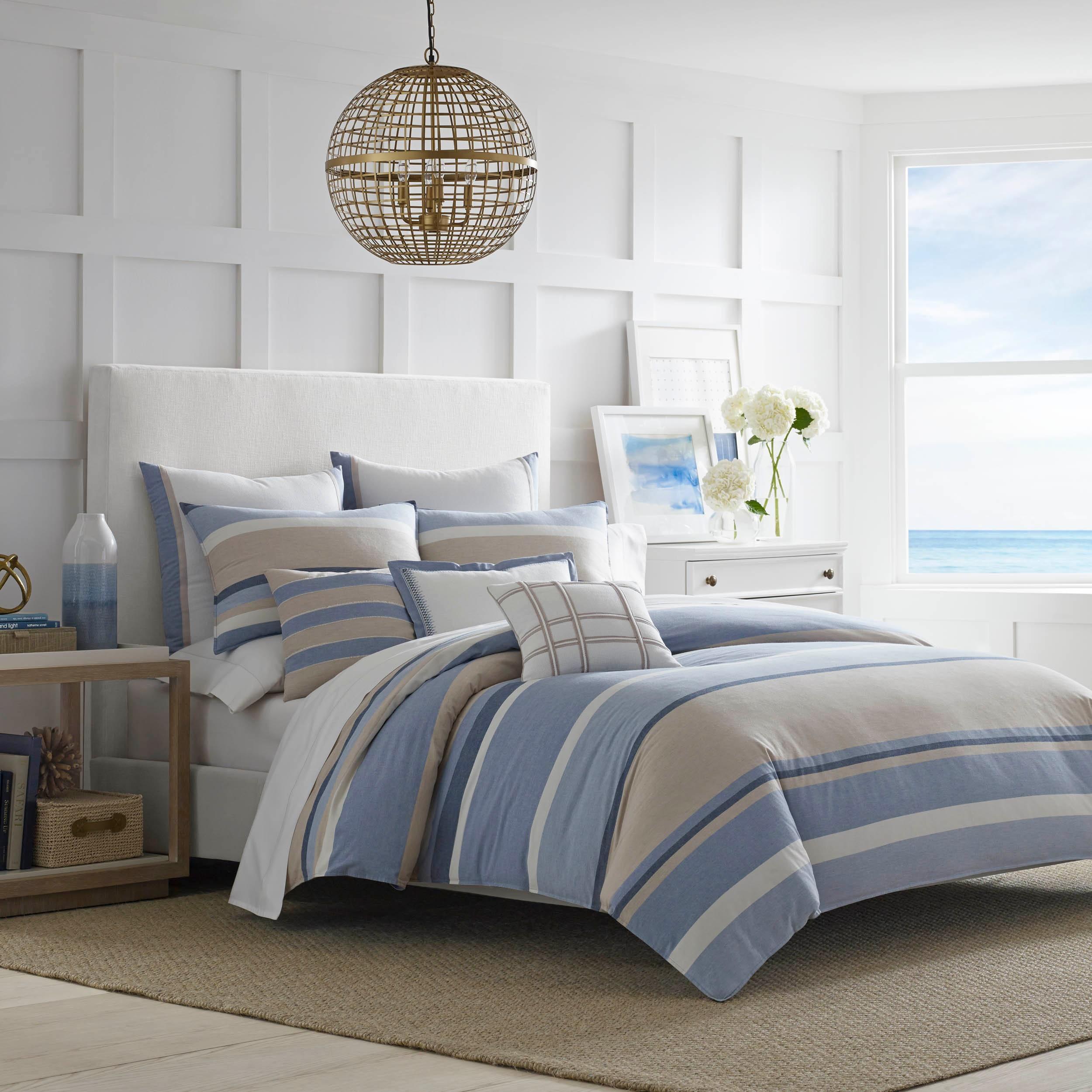 set sets mouse ocean coastal bedding minnie queen bed nautical comforter