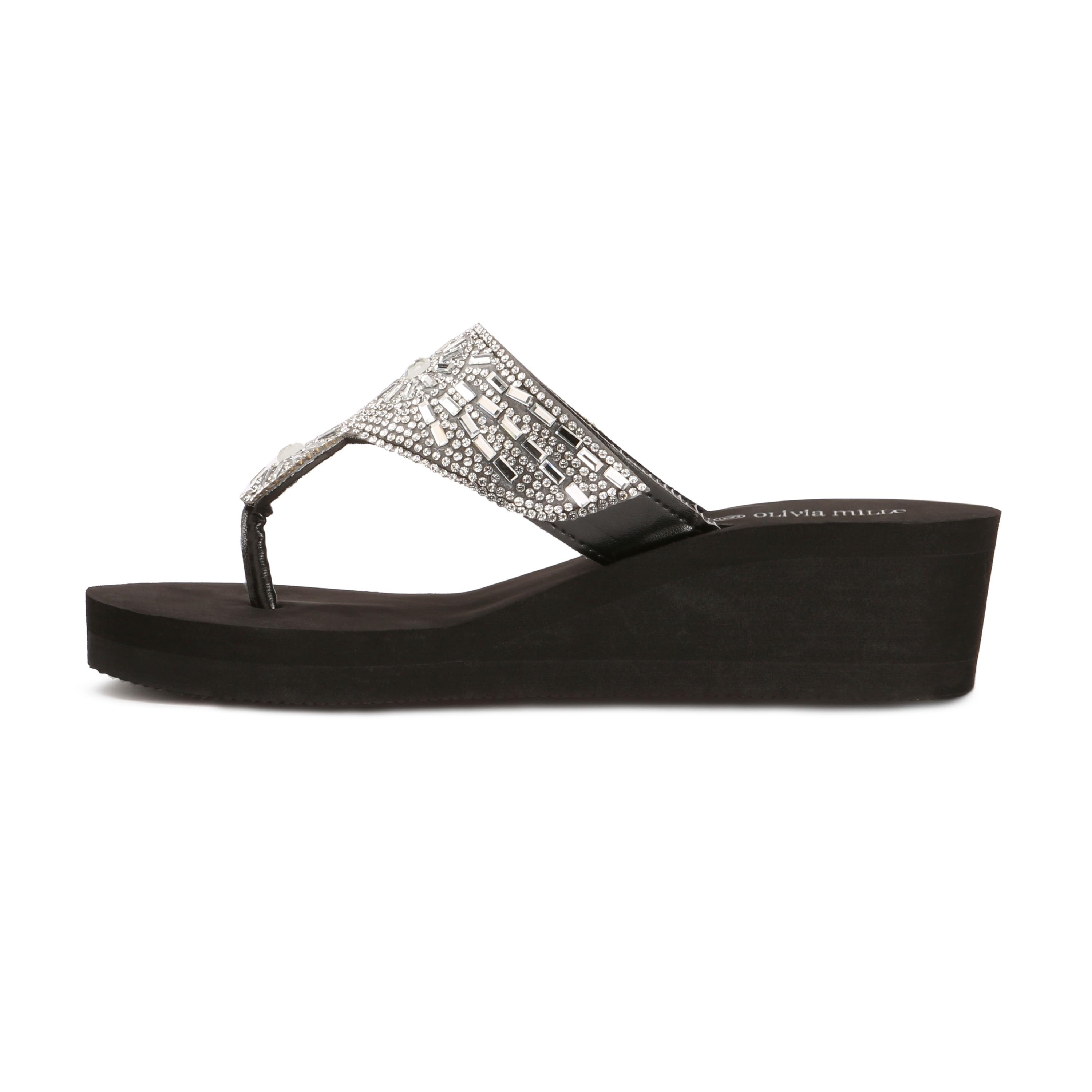 6970a3a9b94 Shop Olivia Miller  Hawthorne  Multi Rhinestone Circular EVA Wedge Sandals  - On Sale - Free Shipping On Orders Over  45 - Overstock - 20338753