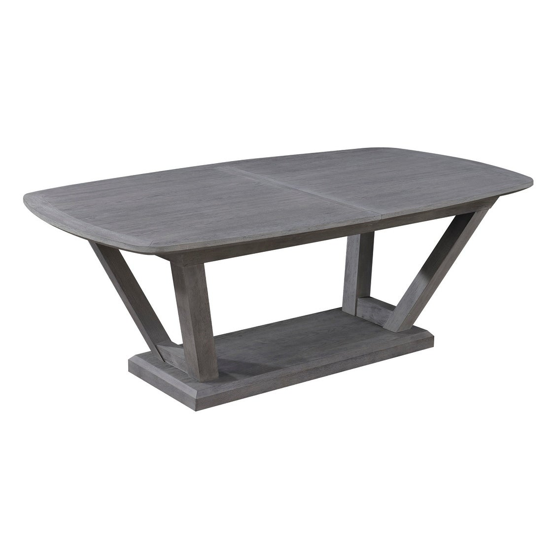 Strick Bolton Fara Slate Grey 84 Inch Dining Table With Self Storing Erfly Leaf