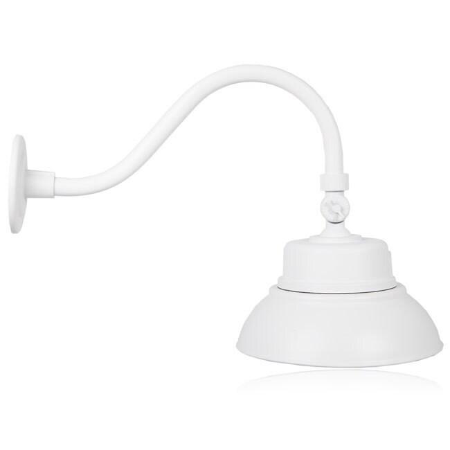 Outdoor Adjule Led Gooseneck Barn Light Photocell Sensor 2000 Lumens Free Shipping Today 20346322