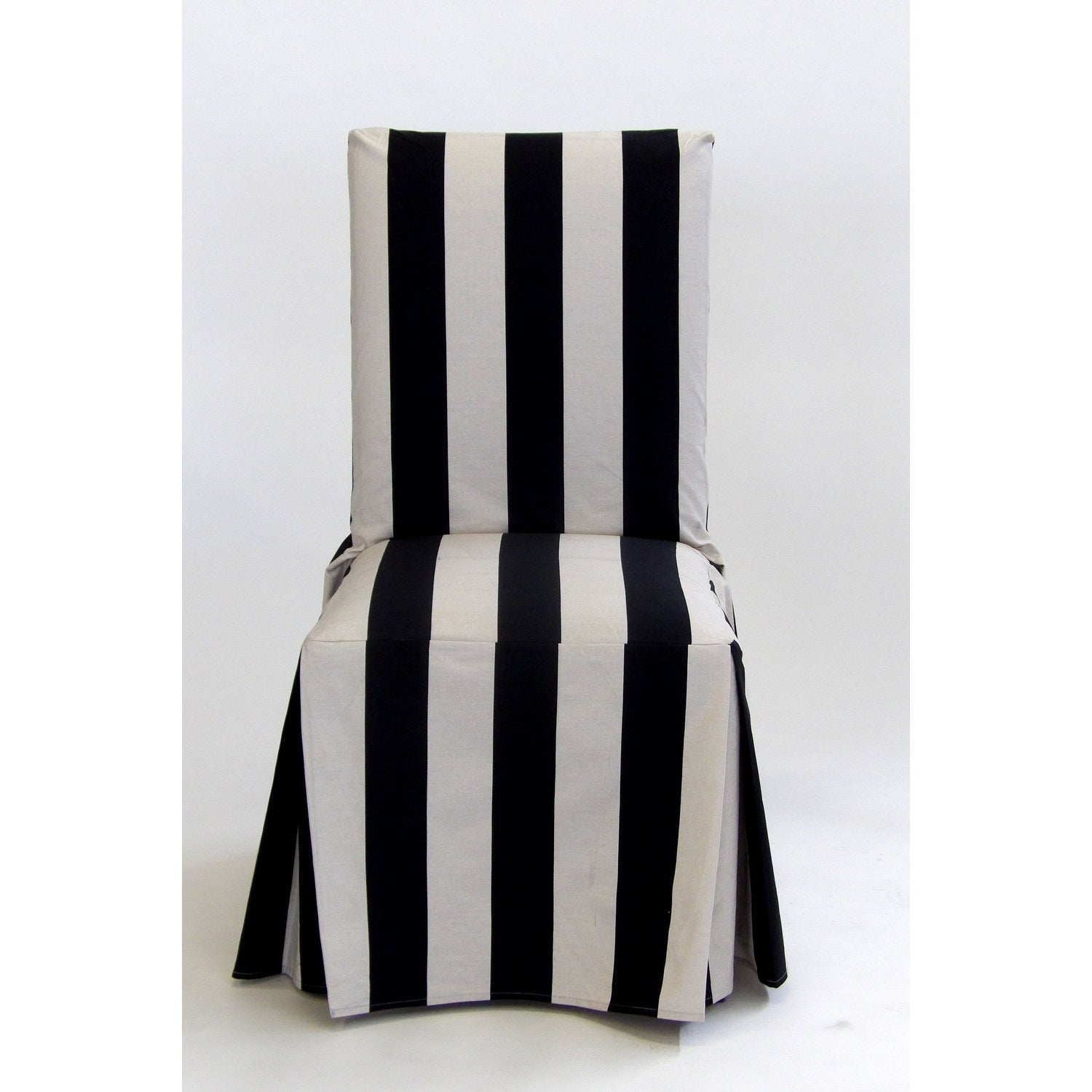 Shop Classic Slipcovers Cabana Stripe Long Dining Chair Covers Set