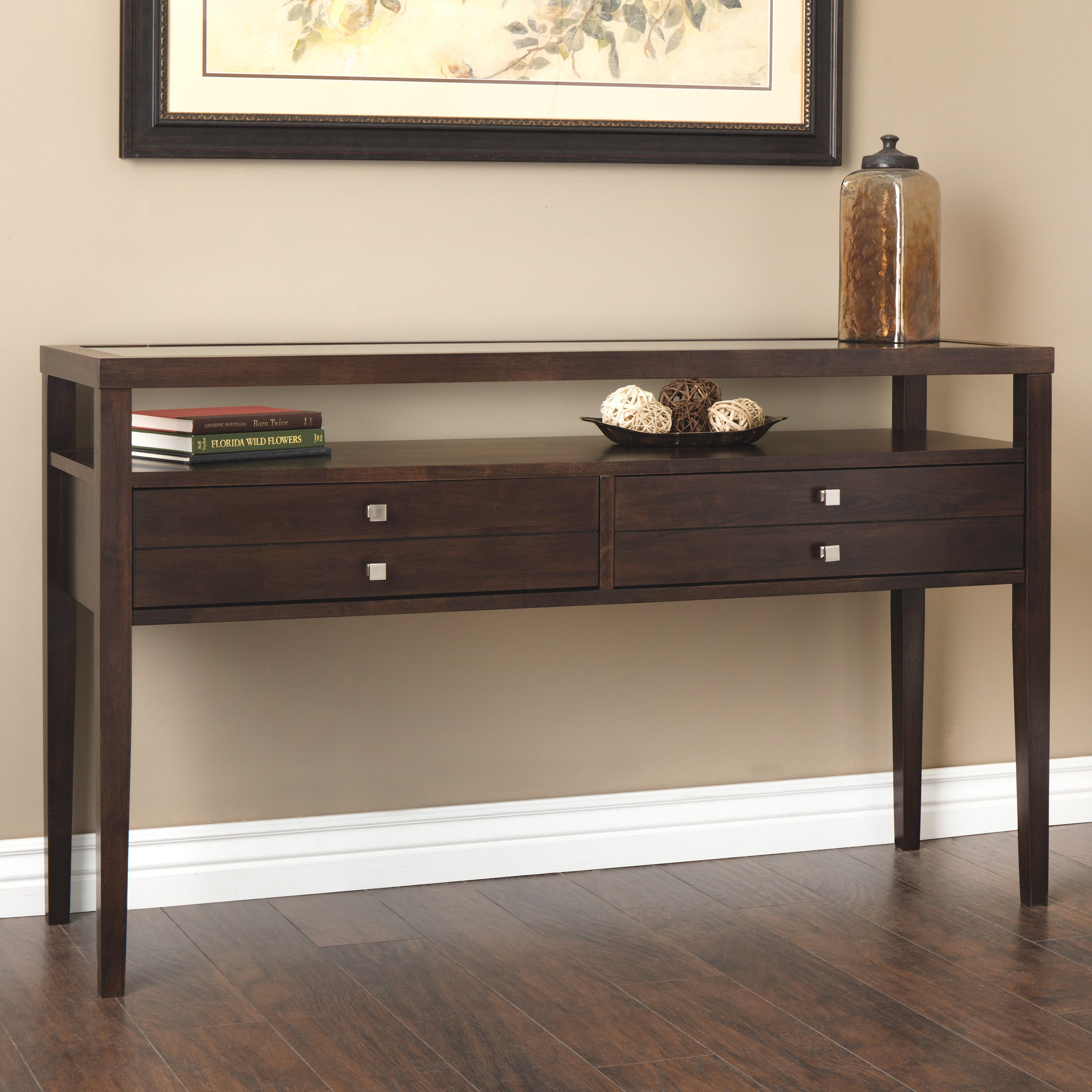 Delicieux Shop Stones U0026 Stripes Aristo Halifax Brown Console Table   On Sale   Free  Shipping Today   Overstock.com   2034825