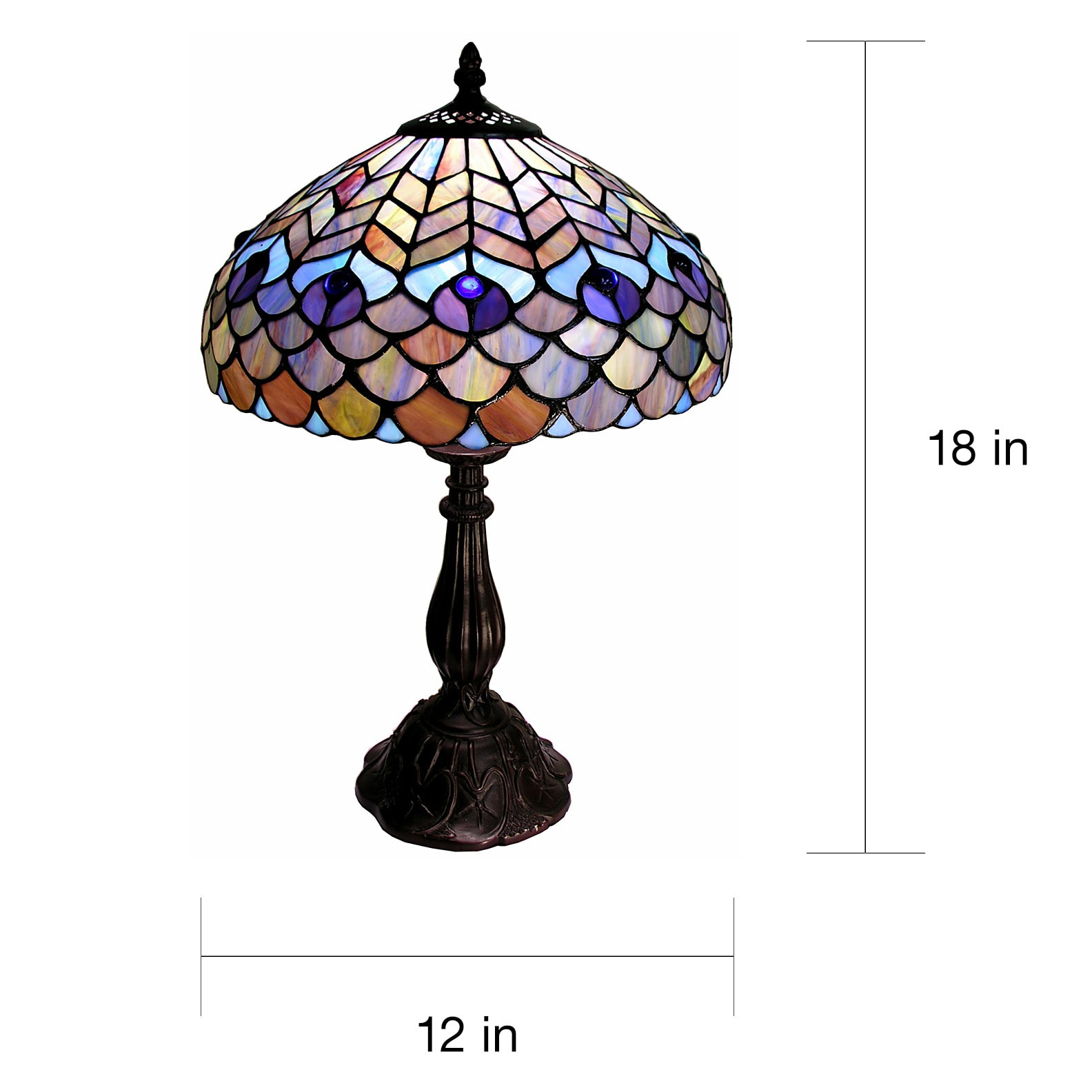 Shop Tiffany Style Peacock Table Lamp On Sale Free Shipping