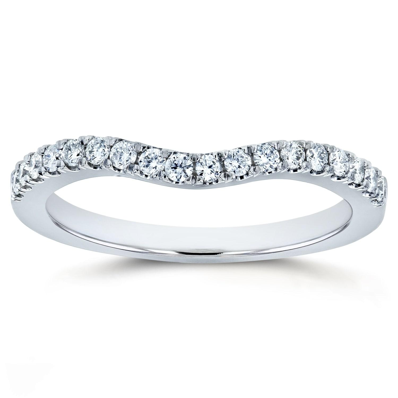 Shop Annello By Kobelli Diamond Curved Wedding Band 1 5 Ctw 14k Gold
