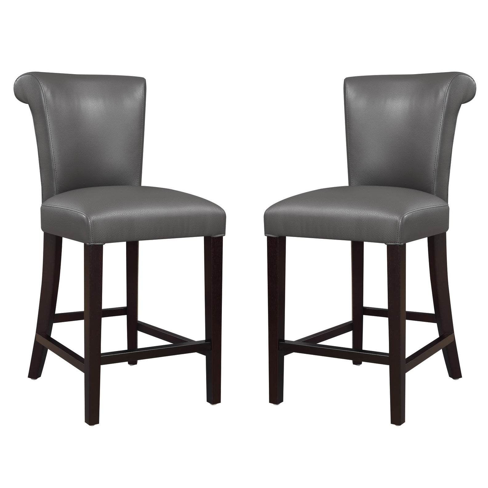 Shop Emerald Home Briar Iii Gunmetal Gray 24 Bar Stool With Faux