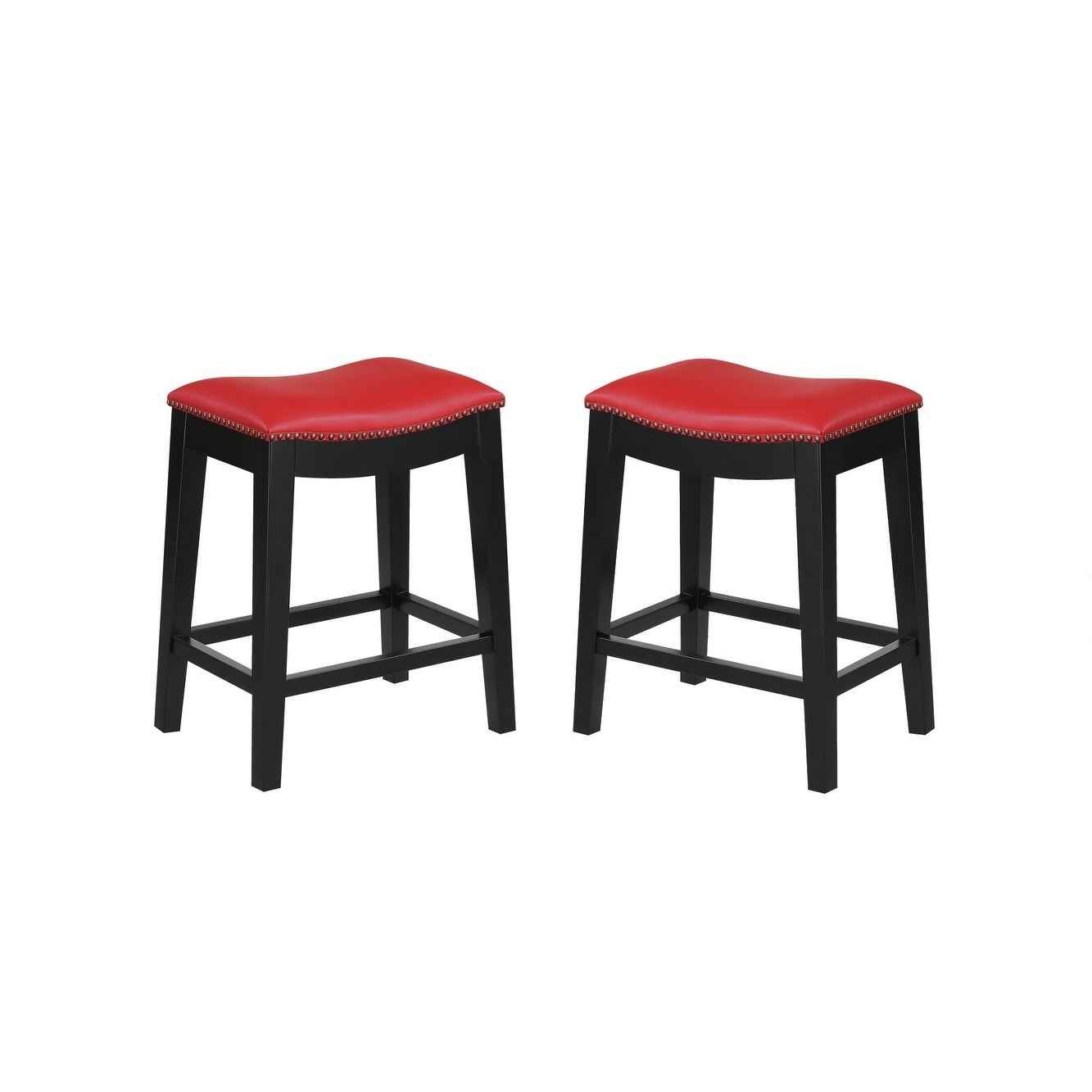 Shop emerald home briar traditional red 24 bar stool set of 2 free shipping today overstock com 20351585