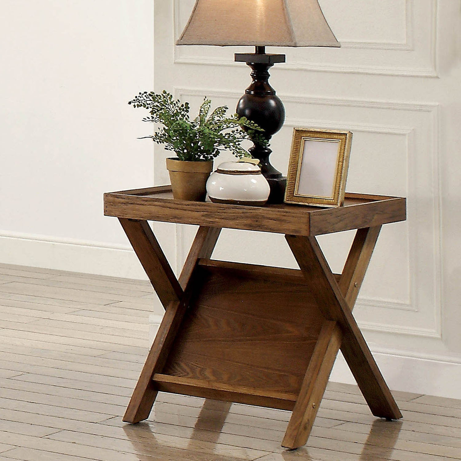 Furniture Of America Montecito Rustic Light Oak End Table With Magazine Rack Free Shipping Today 20351807