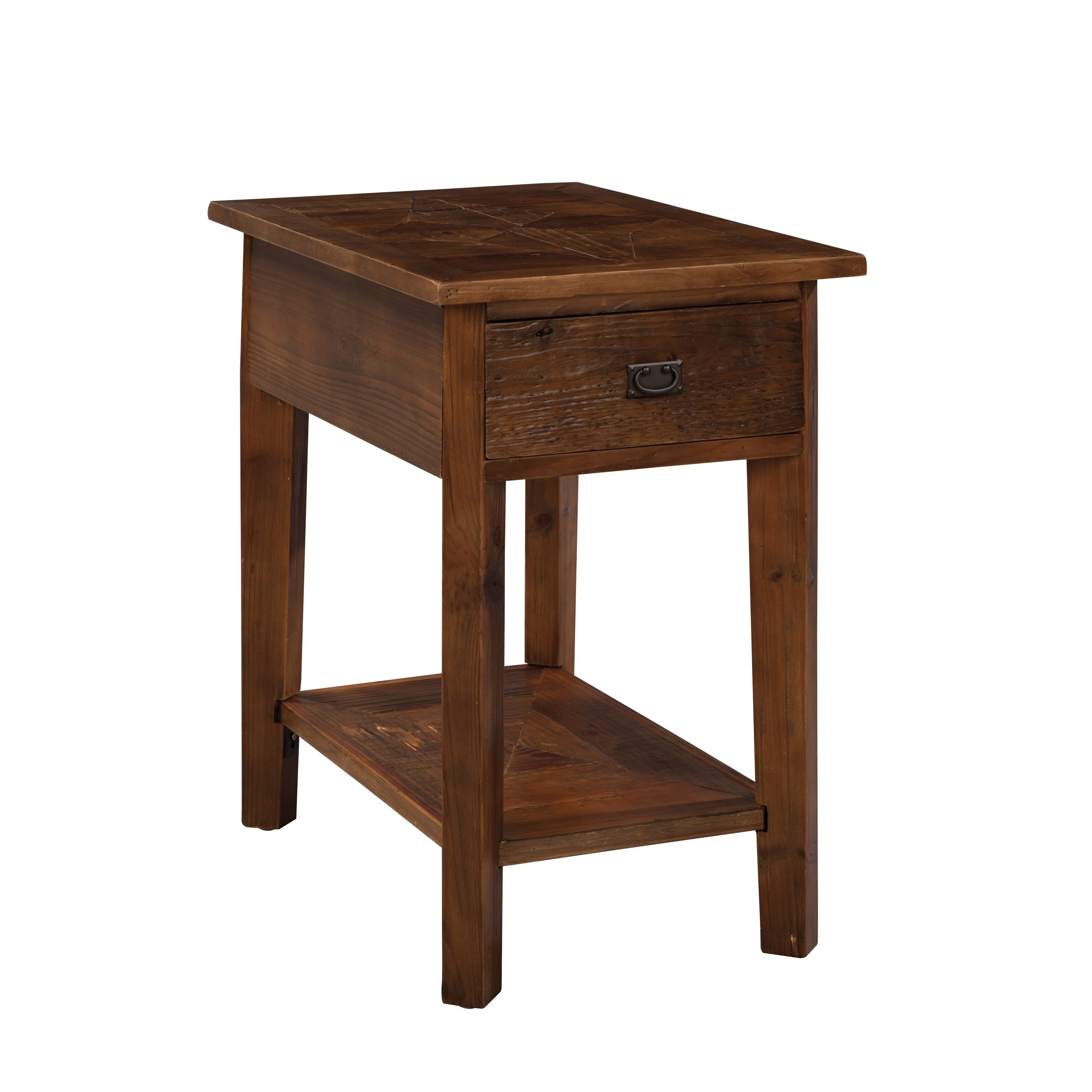 Shop Pine Canopy Redwood Reclaimed Wood Side Table On Sale Free - Redwood side table