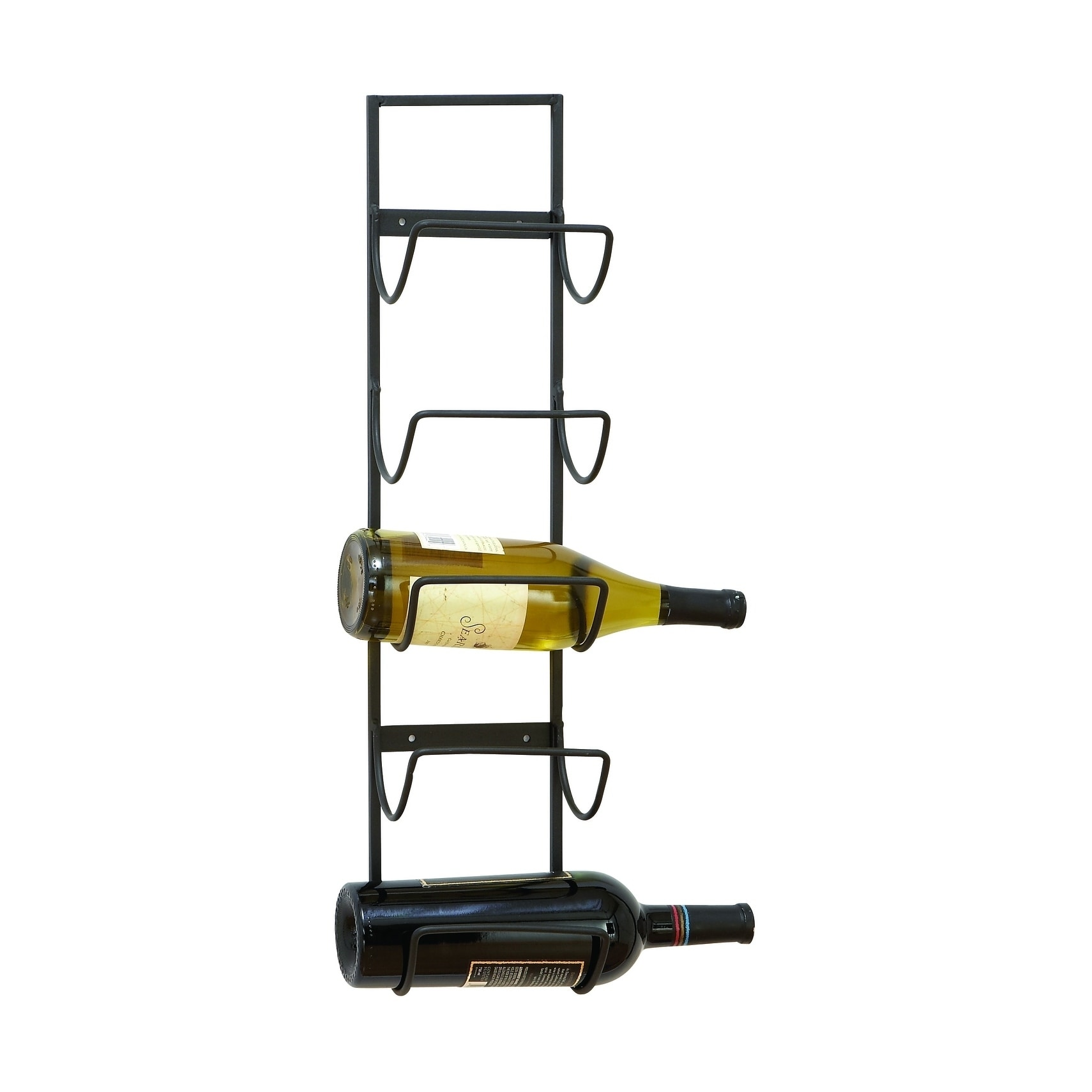 Shop Iron Wine Rack Wall Mount Wine Rack With Simple Ironwork