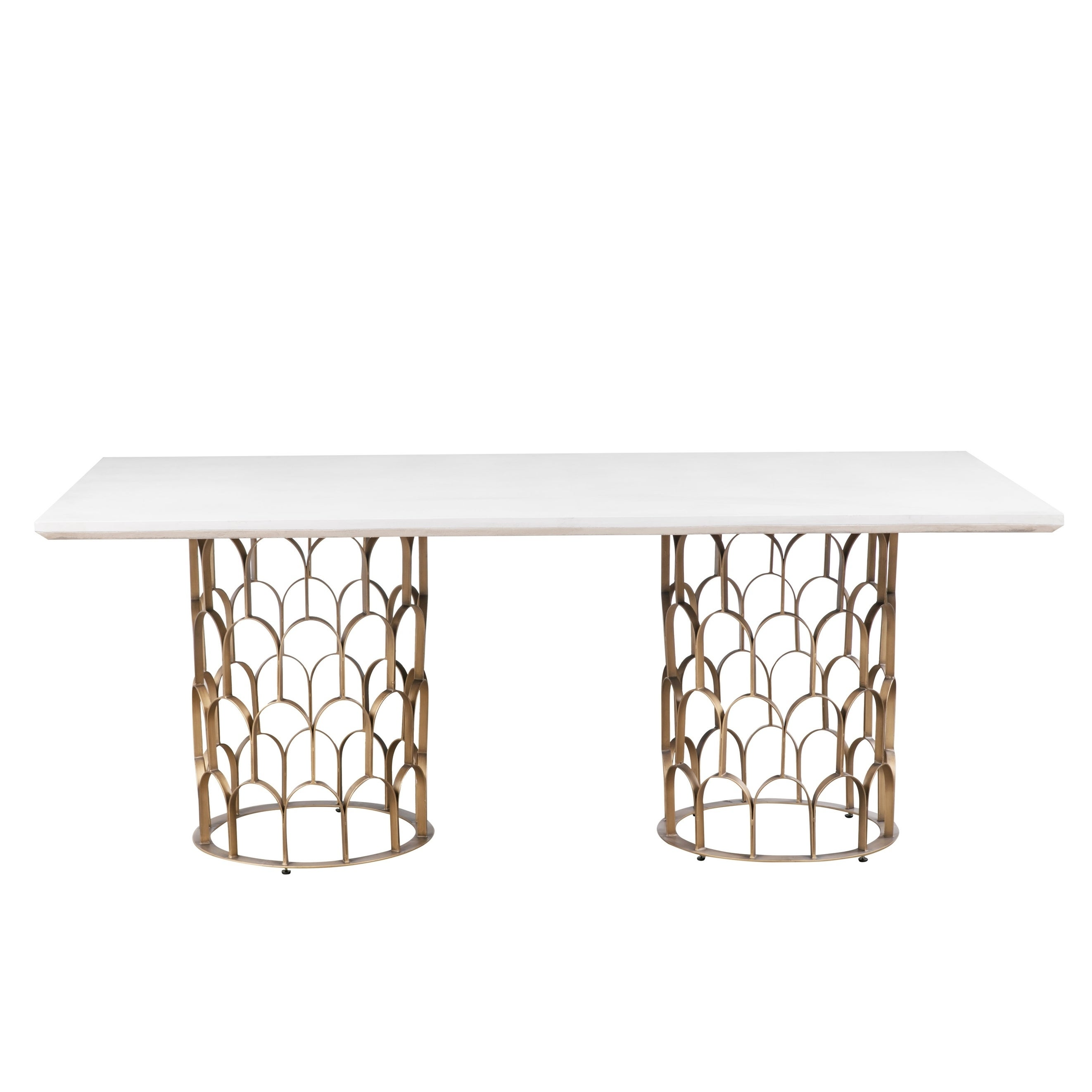24061f2d3763 Shop Gatsby Concrete Dining Table - White - Free Shipping Today - Overstock  - 20355254