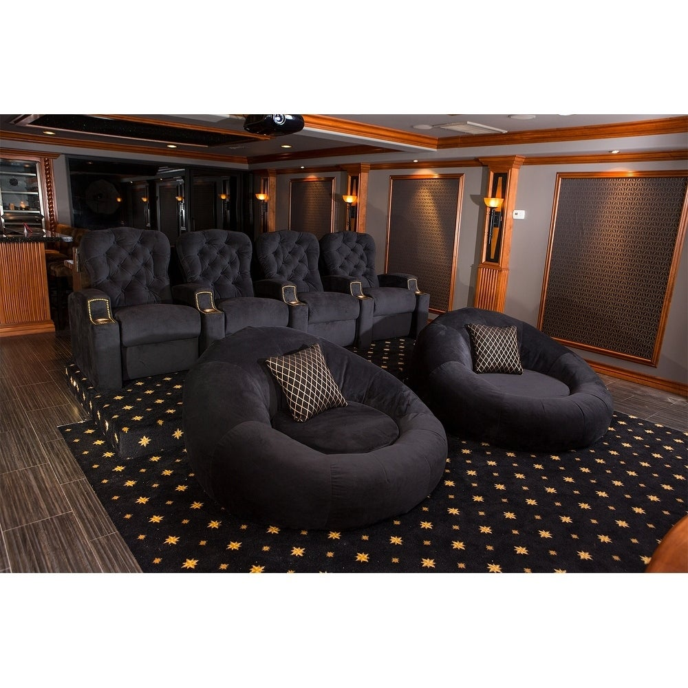 Charmant Shop Seatcraft Bella Fabric Cuddle Seat Home Theater Foam Bean Bag Chair    Free Shipping Today   Overstock.com   20359567