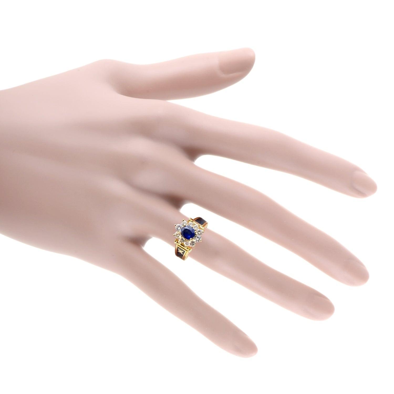 Shop Korloff Women\'s Yellow Gold Diamond & Sapphire Enameled Ring ...