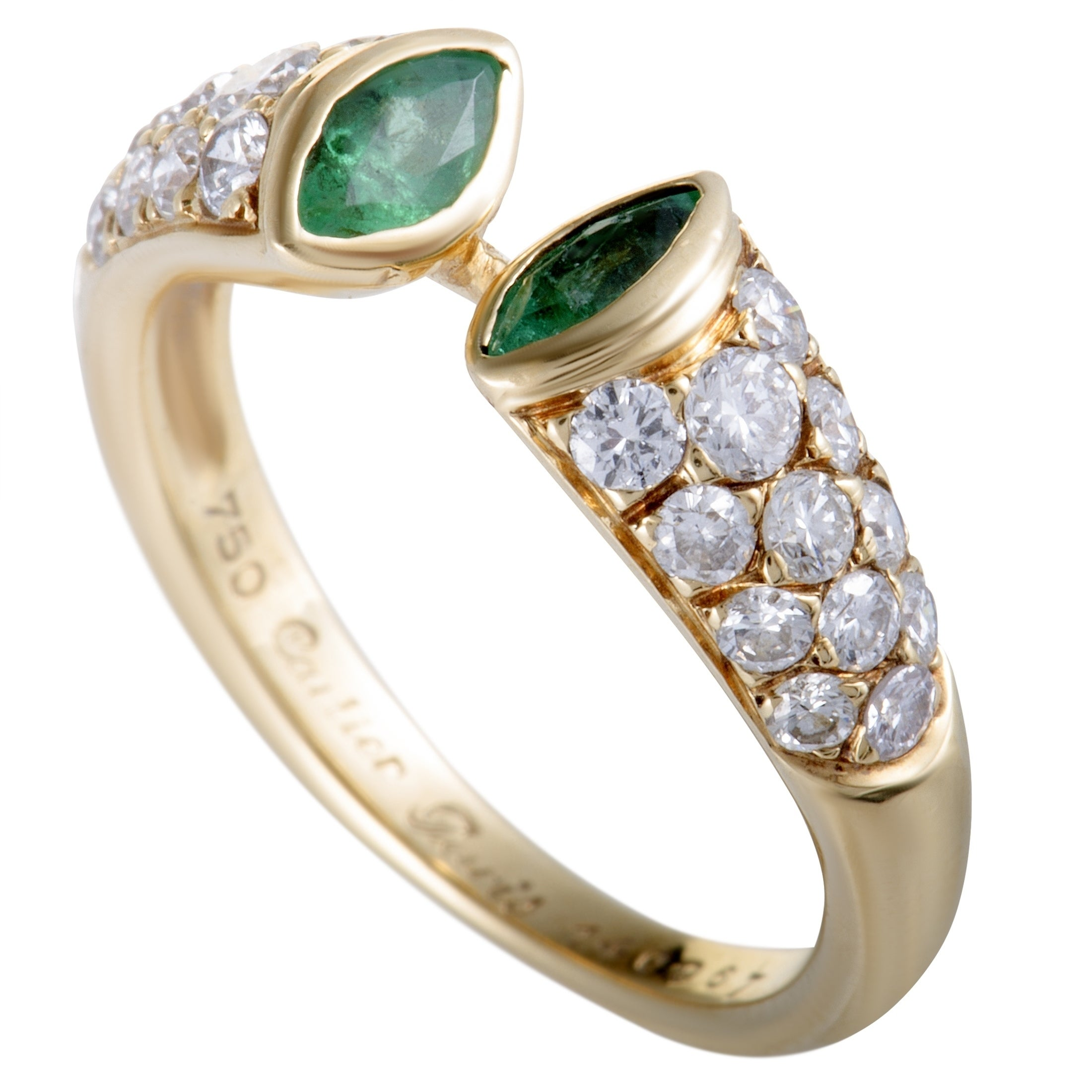 pav pave vintage logo mimi sz emerald products size in cartier ring gold bombe diamond dome