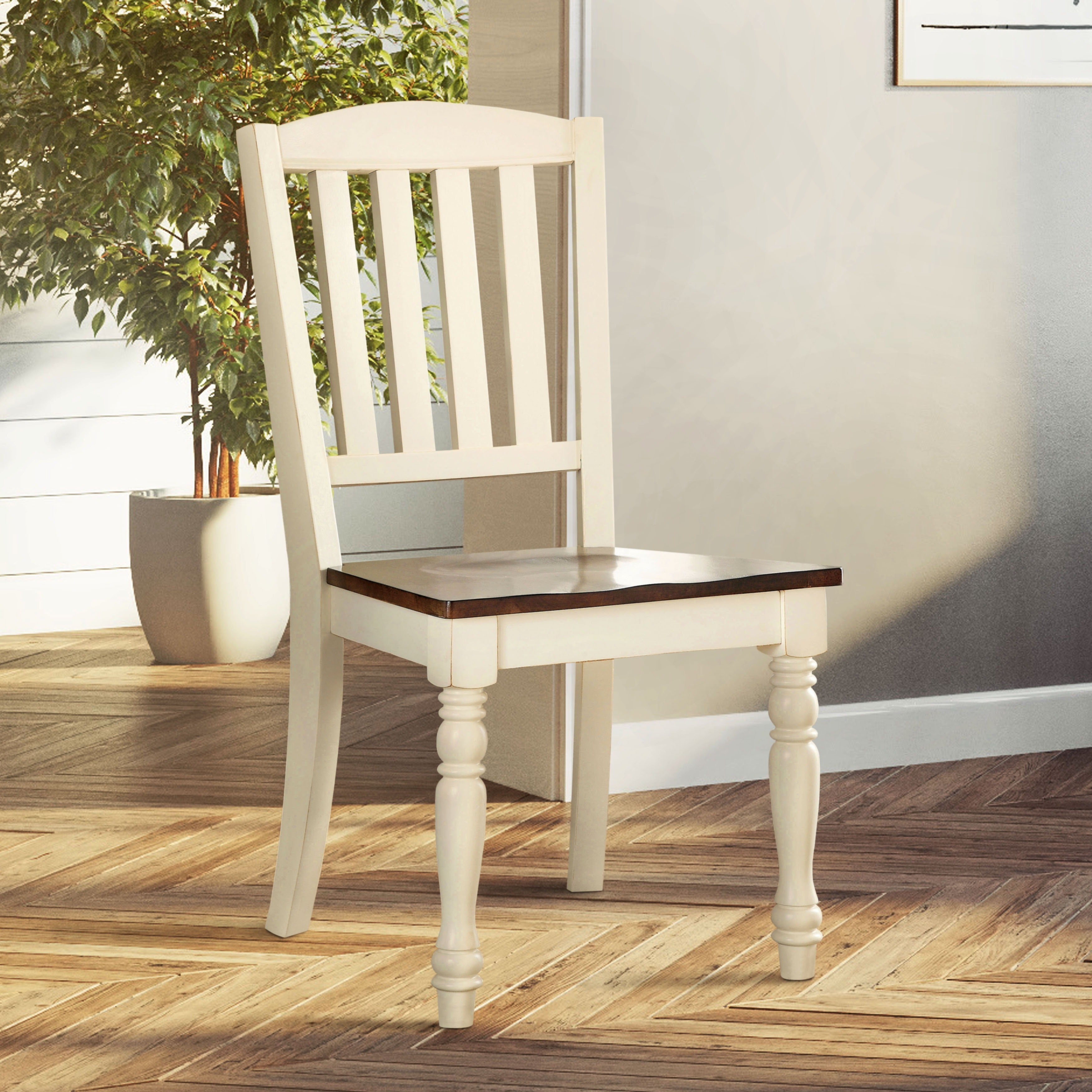 The Gray Barn Castlefarm Cottage Style 2 Tone Dining Chair Set Of 2 20 W X 23 D X 40 H Seat Ht 18 Seat Dp 17 1 2