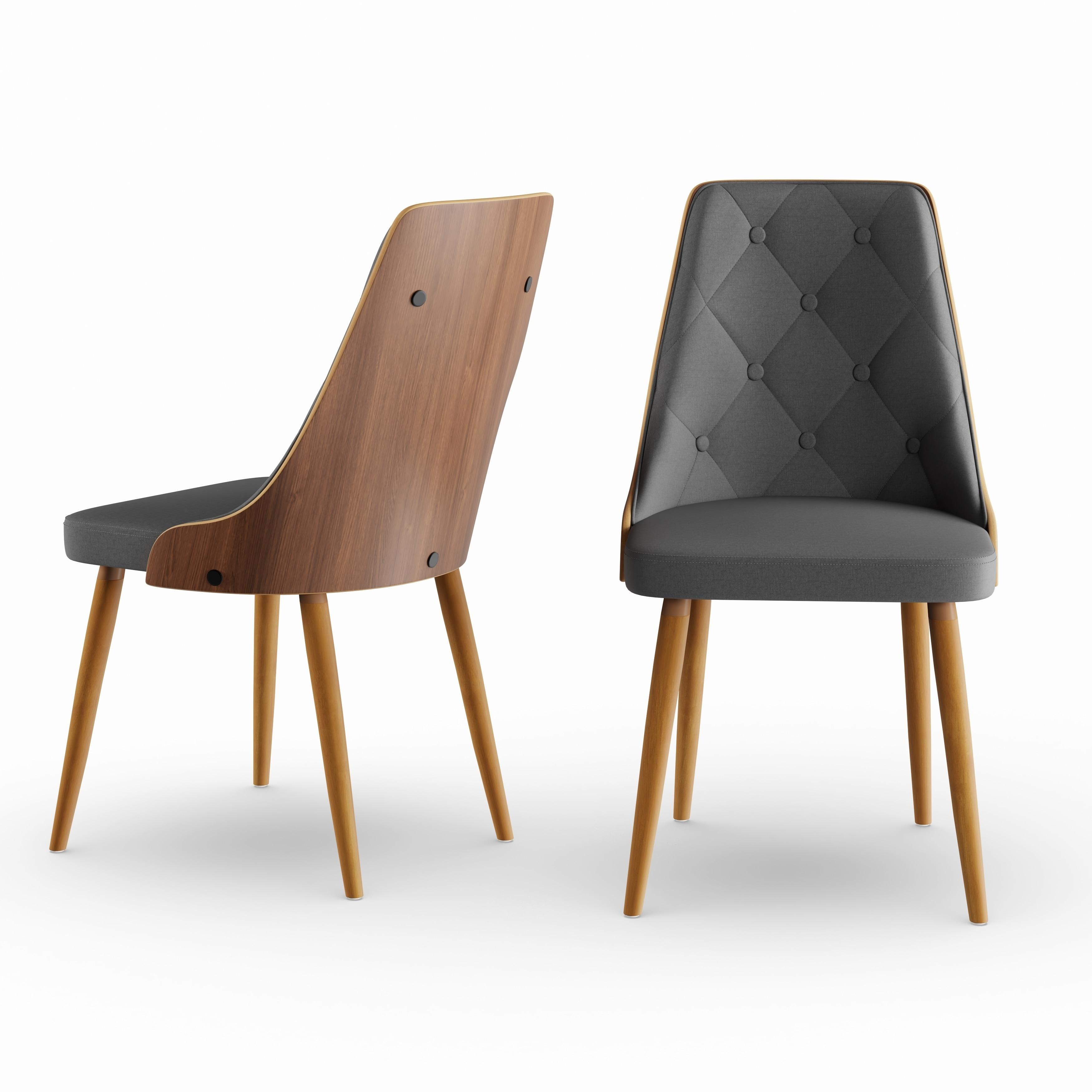 Carson carrington arvika mid century modern walnut wood dining chair