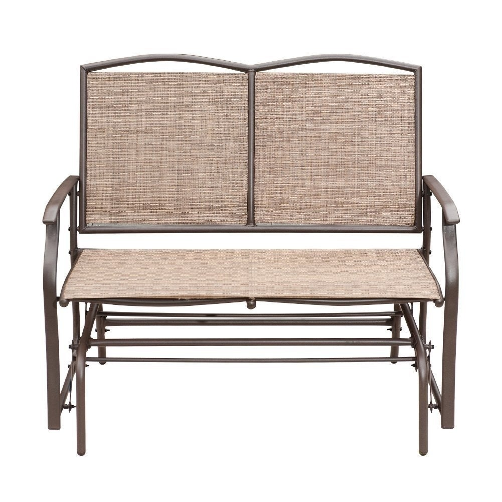 Delicieux Shop SunLife Outdoor Indoor Glider Loveseat Set Rattan Resin Wicker Patio  Bench Furniture Double For 2 Person   Free Shipping Today   Overstock.com    ...