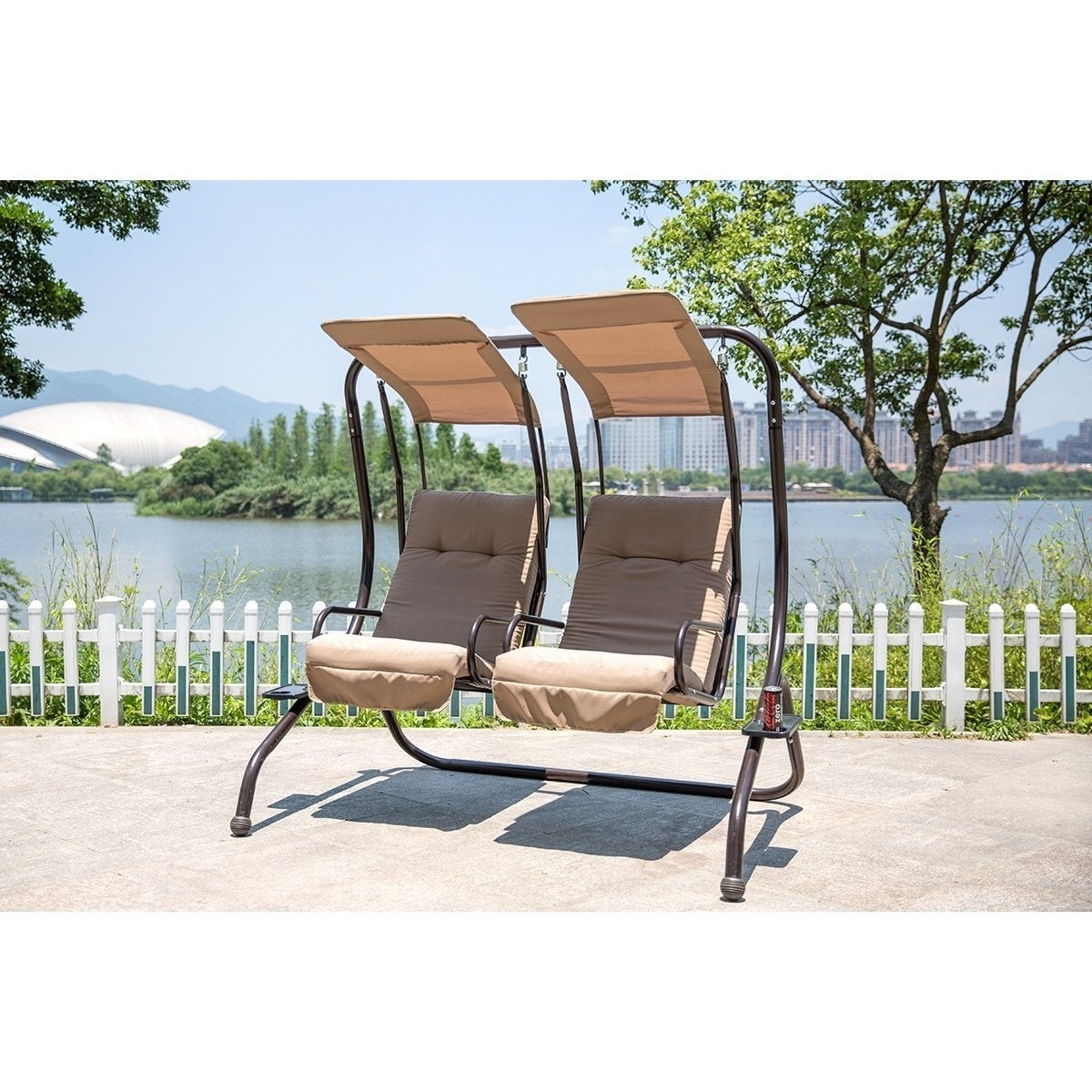 with marquette patrofi co veloclub seat gliding stand swing porch glider