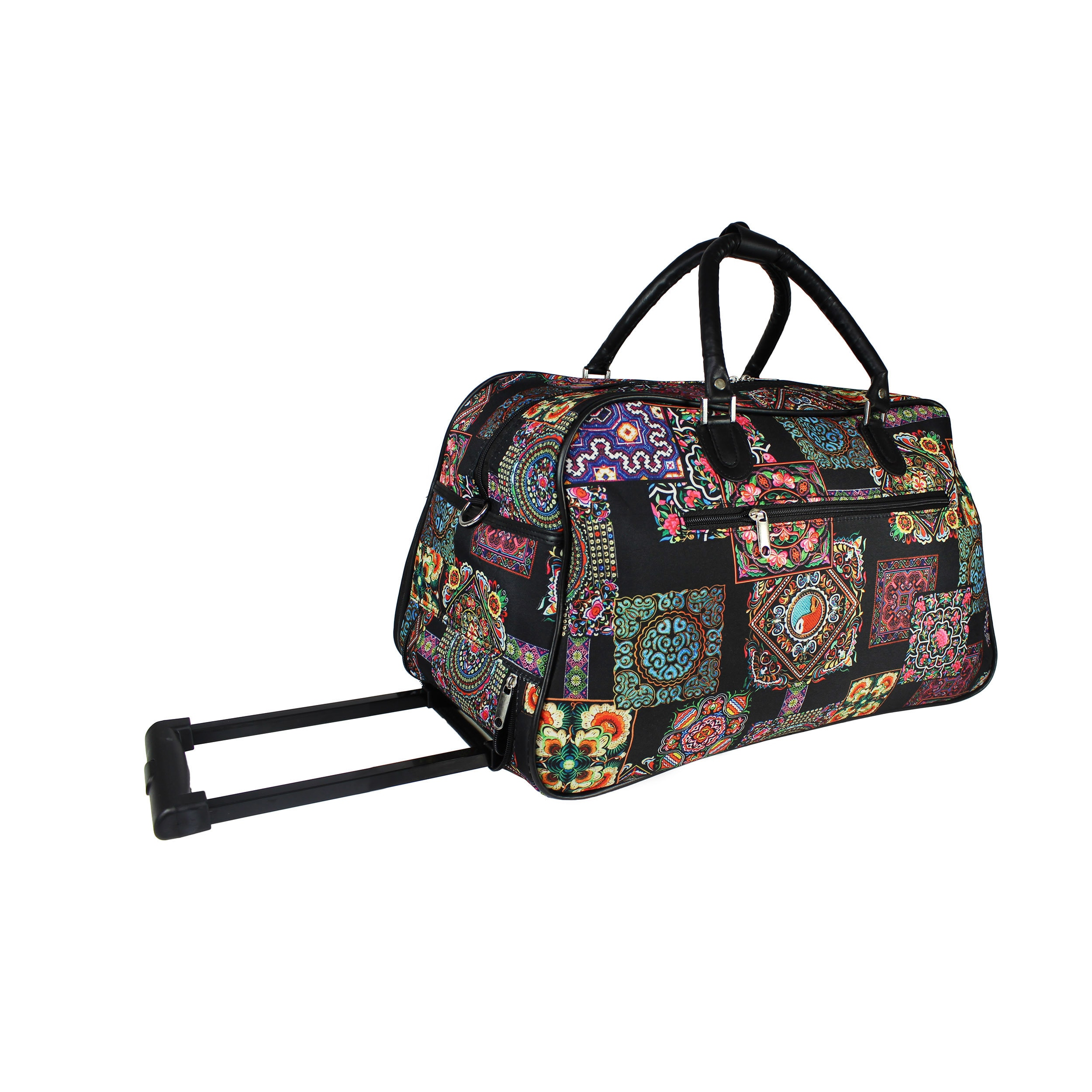 Shop World Traveler Floral Multi Patchwork 21-Inch Carry-On Rolling Duffel  Bag - Free Shipping Today - Overstock.com - 20374917 cfc423157c